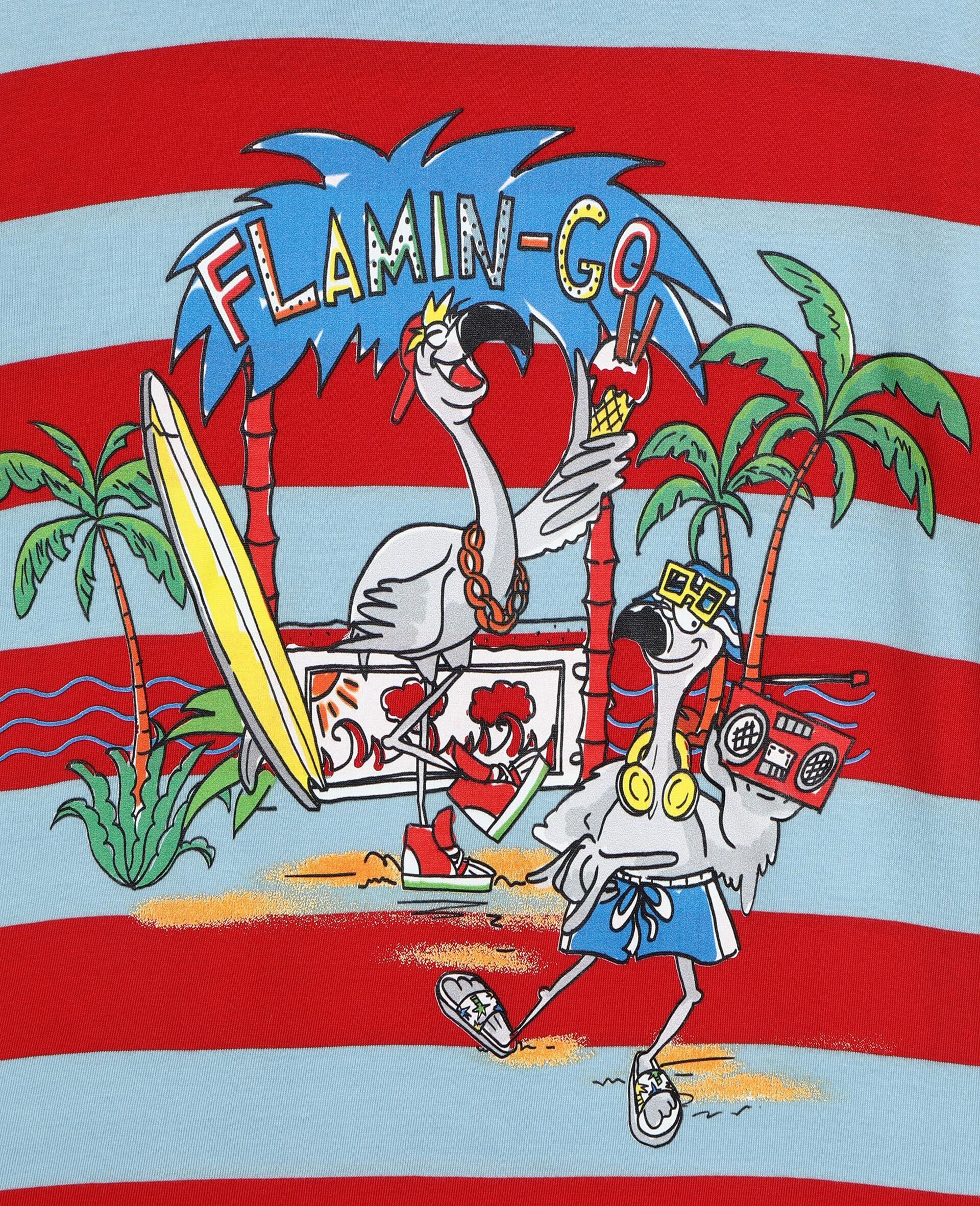 Flamingo Party 棉质 T 恤 -红色-large image number 1
