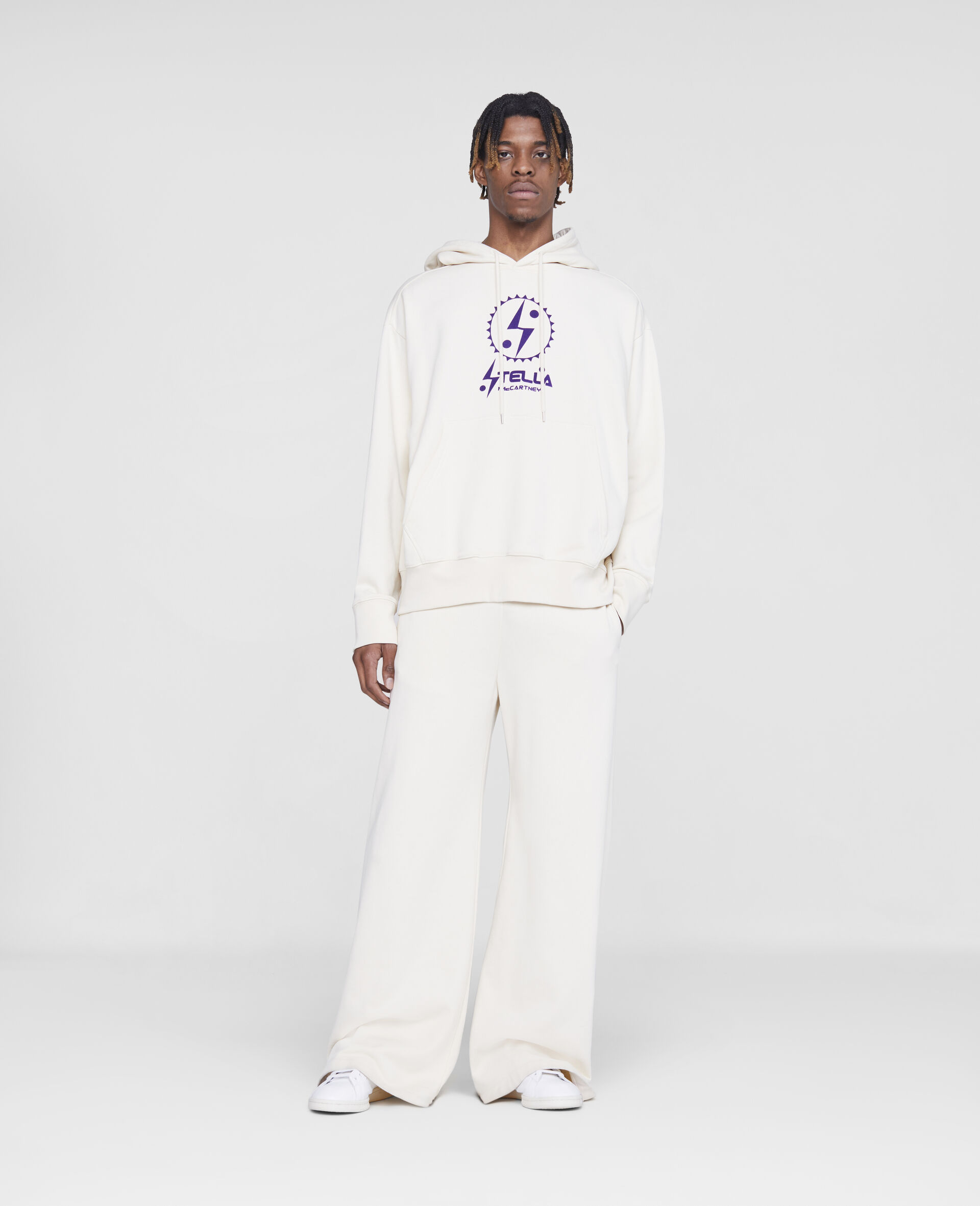 Stella Logo Sweatpants -White-large image number 1
