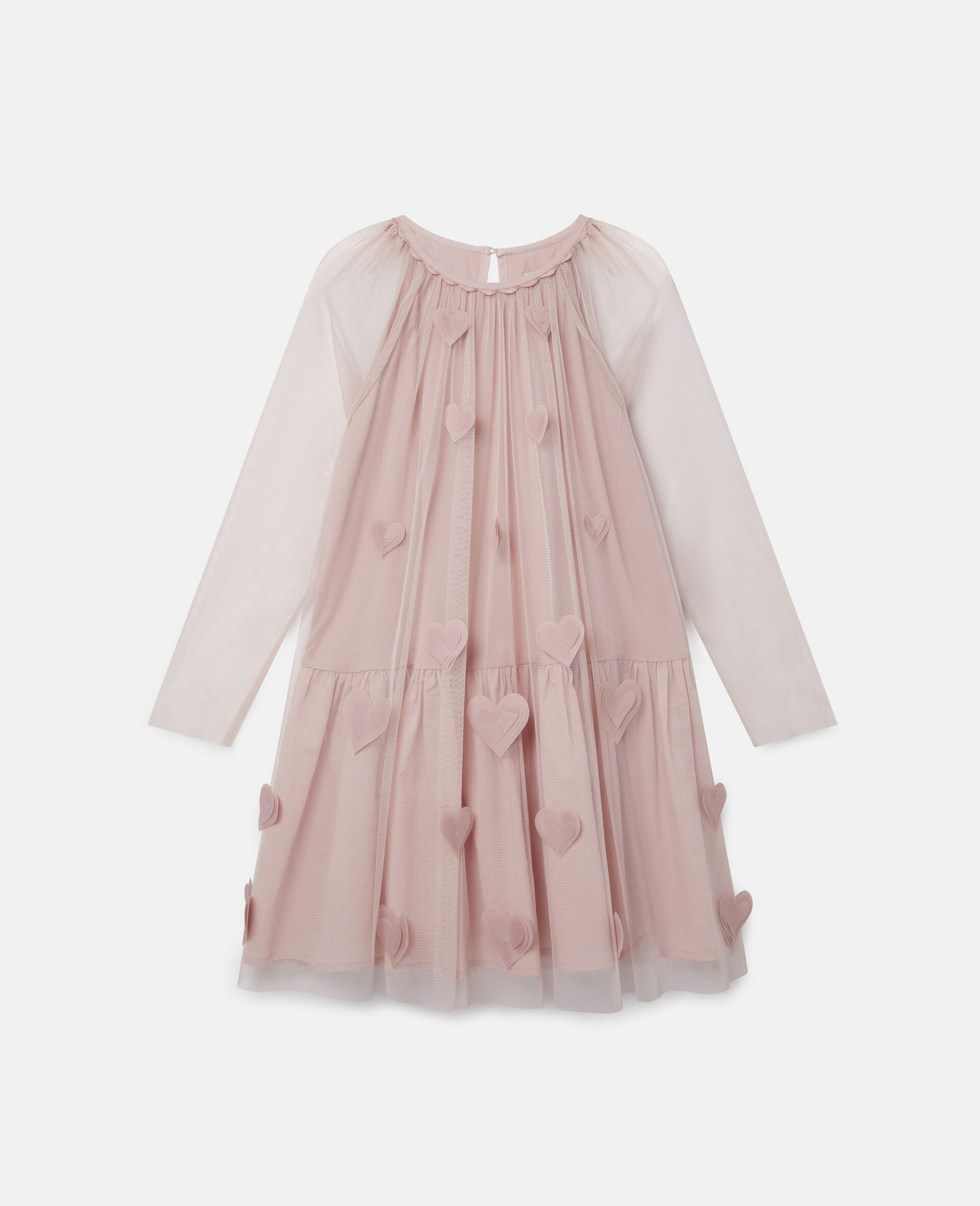 3D Hearts Tulle Dress-Pink-large image number 0
