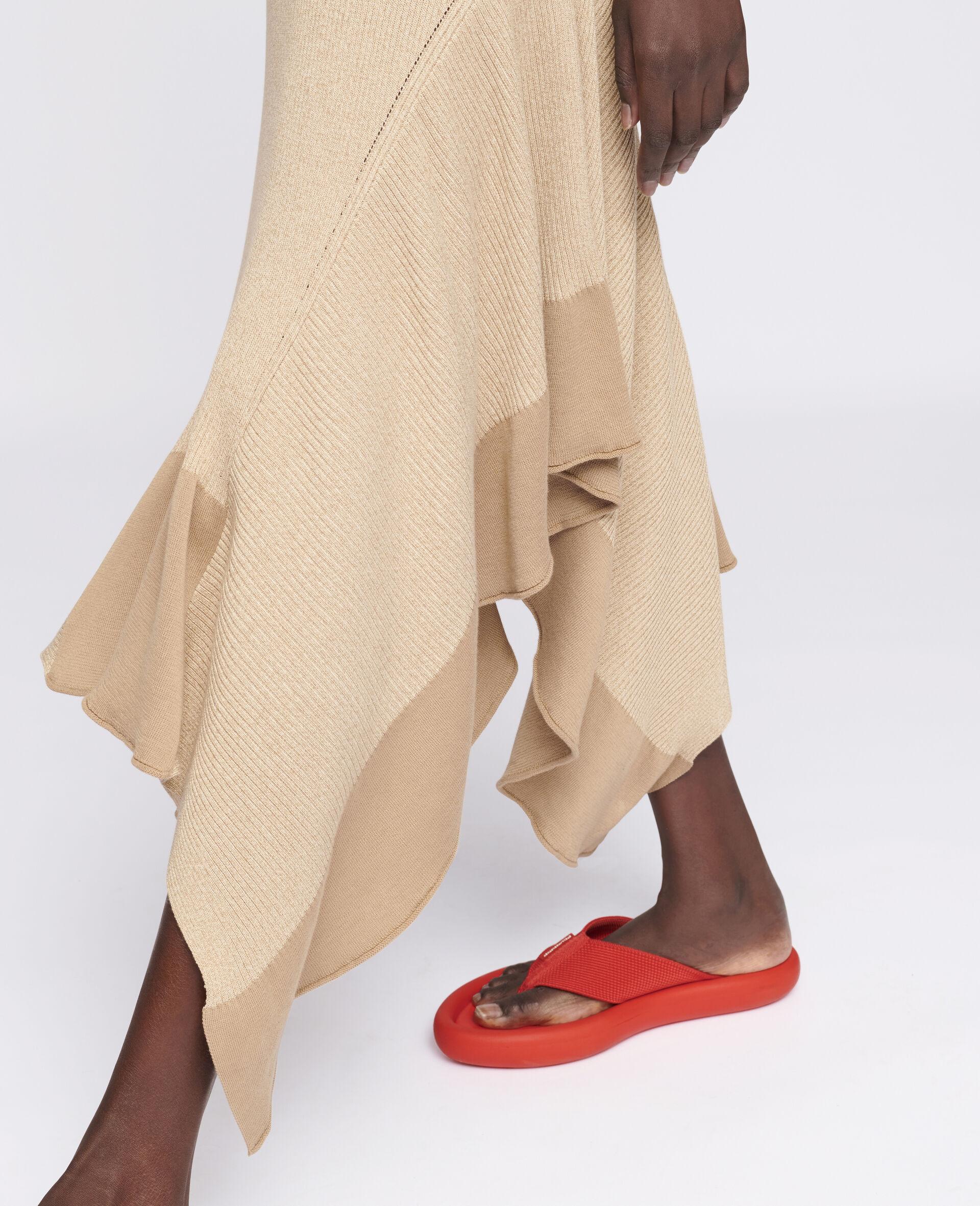Sleeveless Maxi Dress-Beige-large image number 3