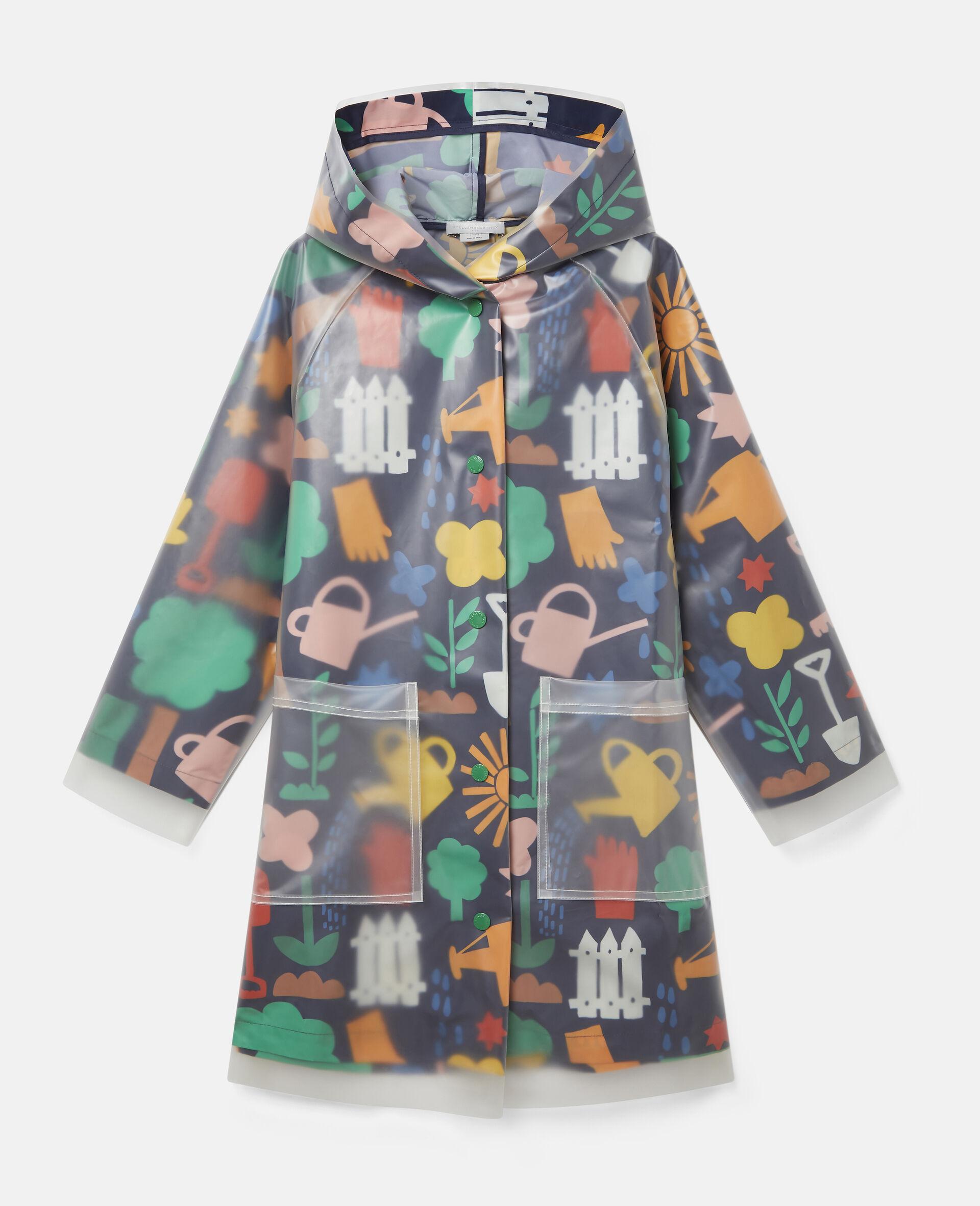 Garden Hooded Raincoat-Blue-large image number 0