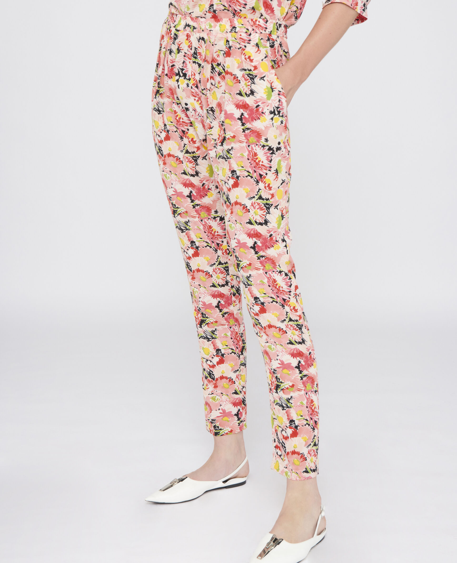 Christine Silk Trousers-Multicolour-large image number 3