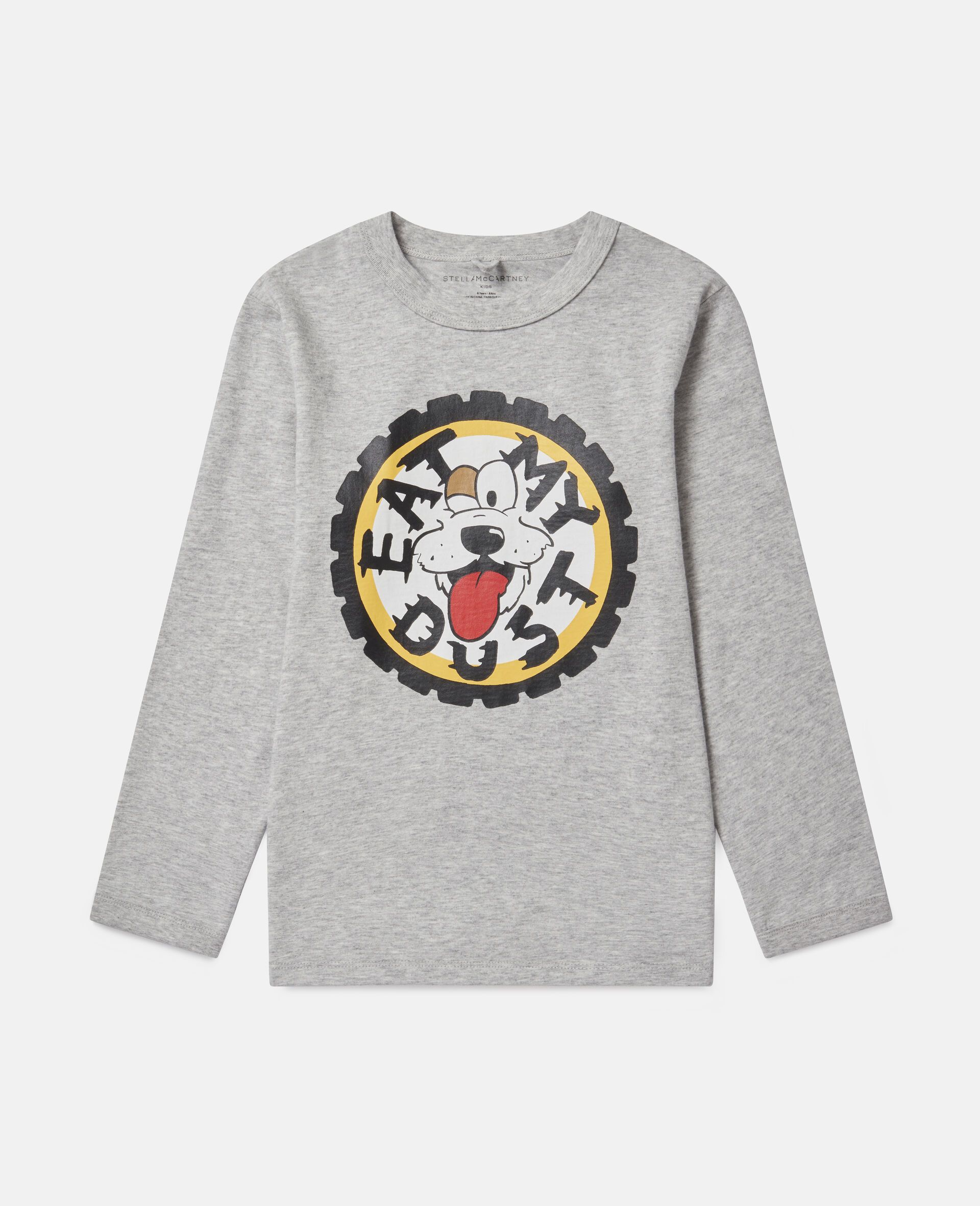 Oversized 'Eat My Dust' Top-Grey-large image number 0