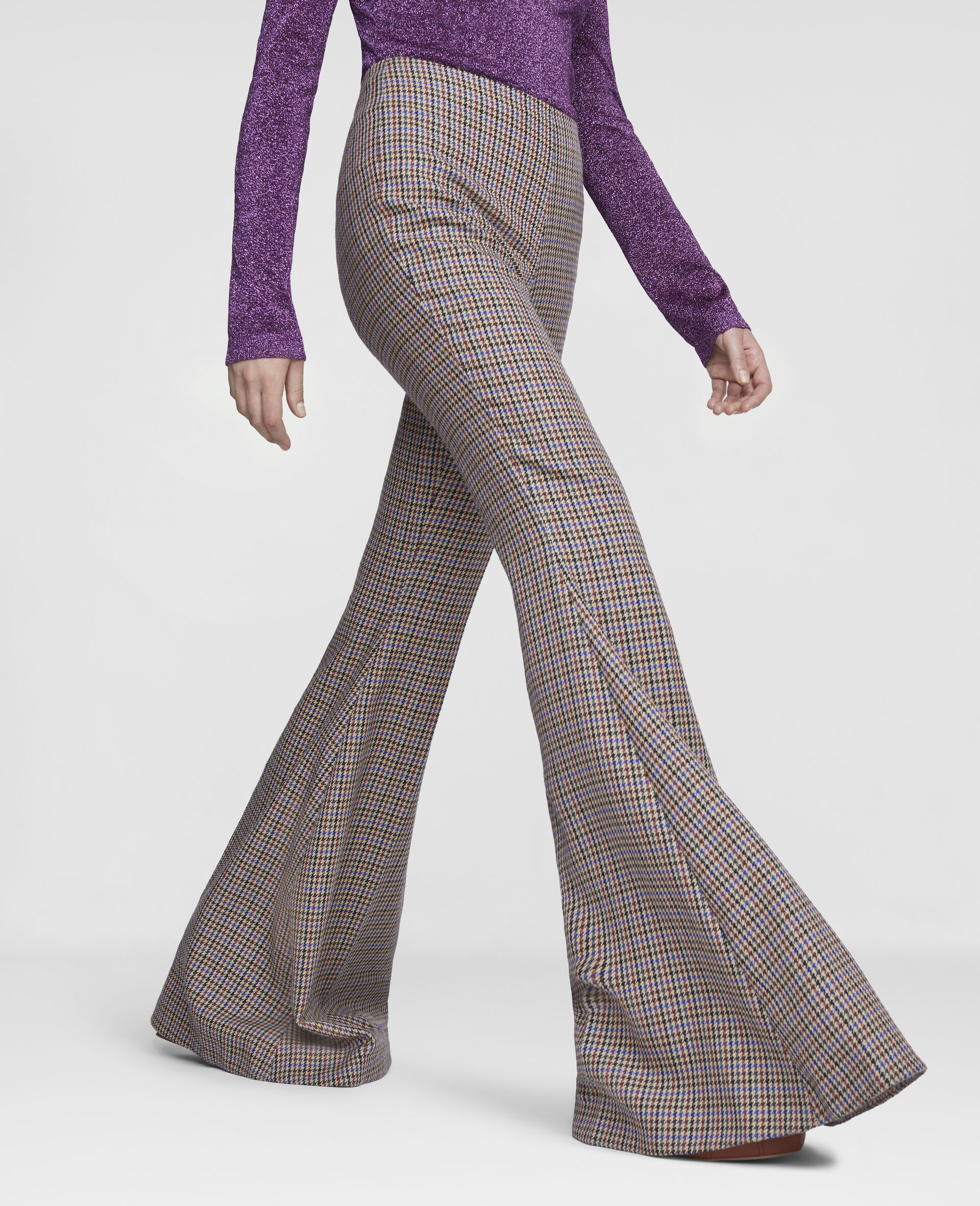 Mona Flared Trousers-Beige-large image number 3