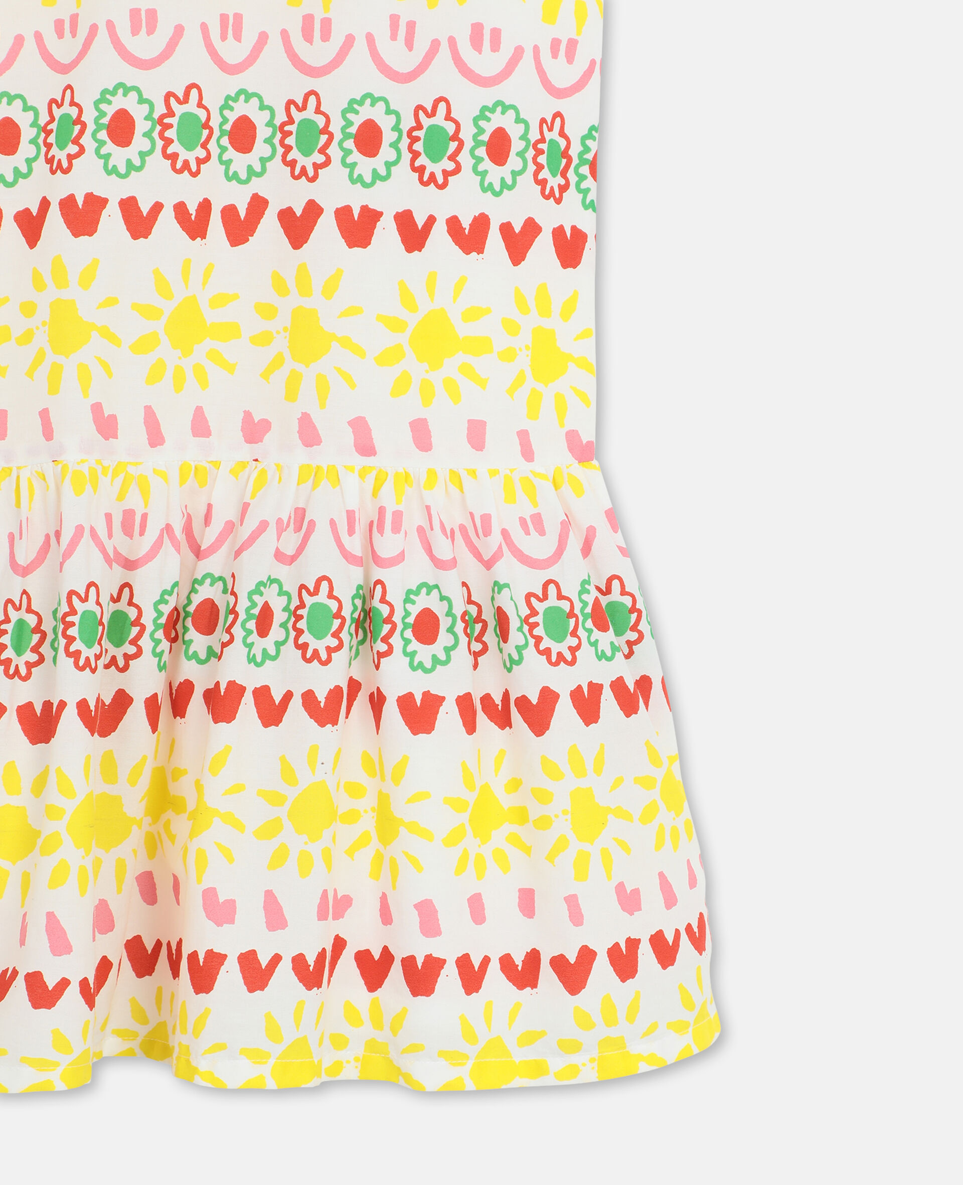 Happy Stripes Cotton Dress-Yellow-large image number 2