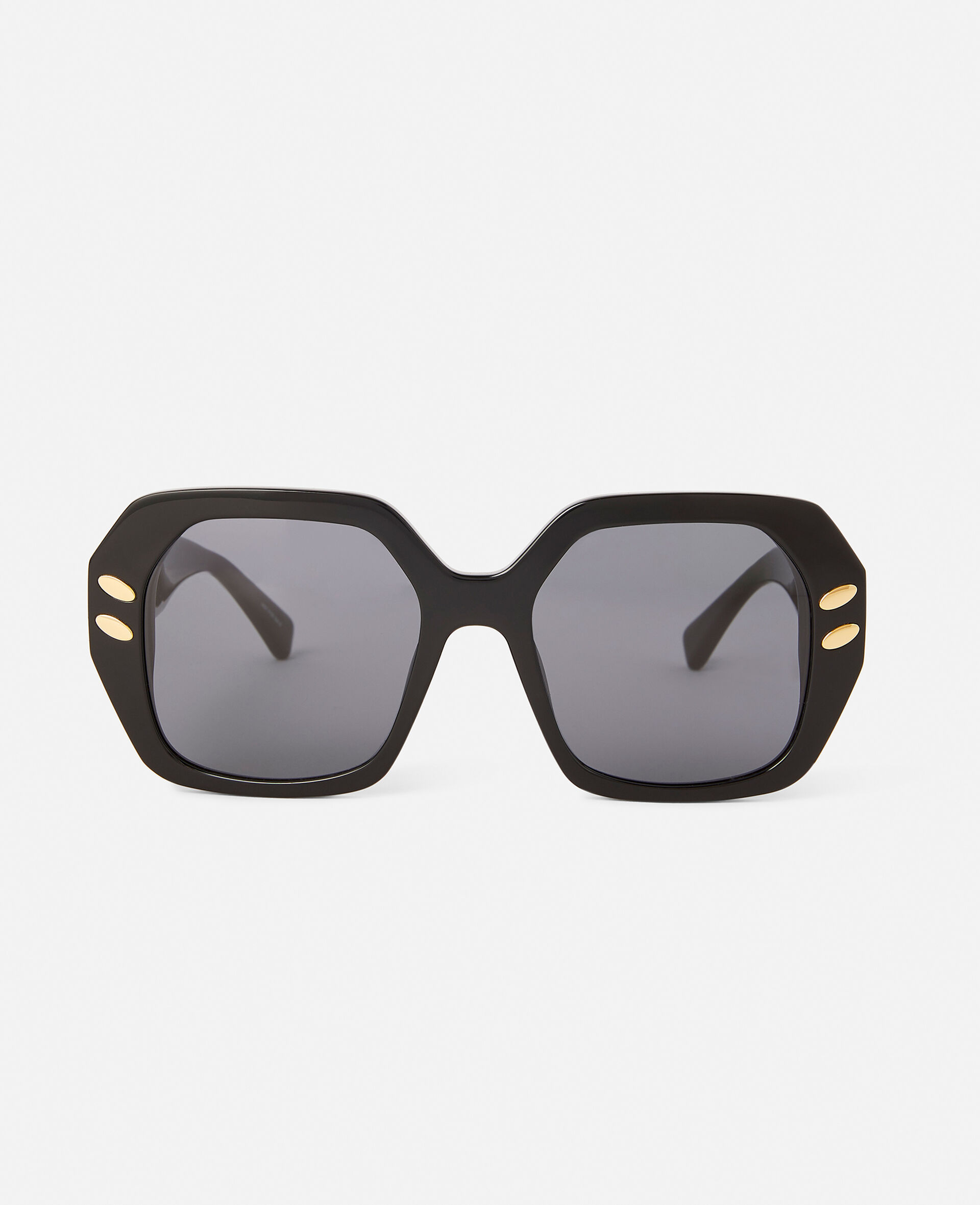 Brown Geometric Sunglasses-Brown-large image number 0