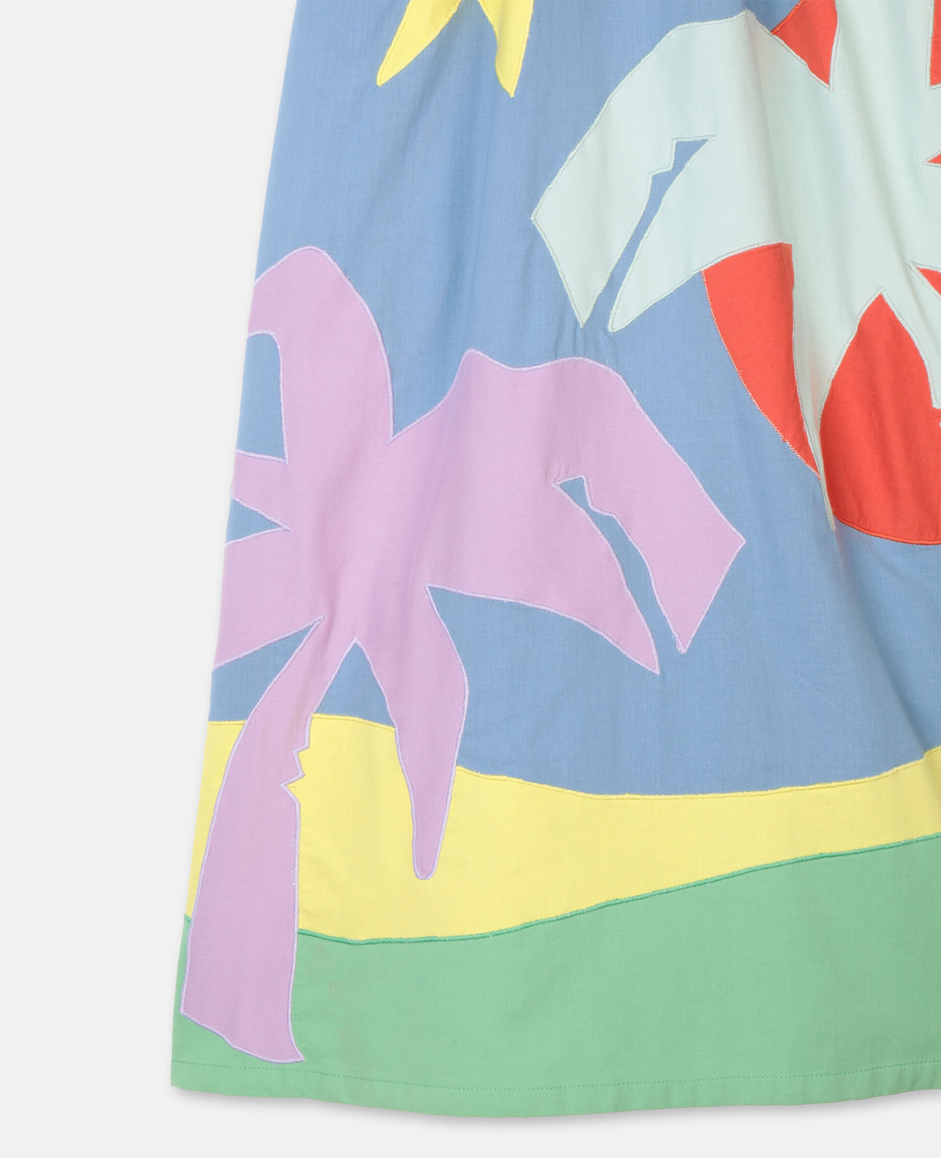 Palm Patches Cotton Dress-Multicoloured-large image number 1