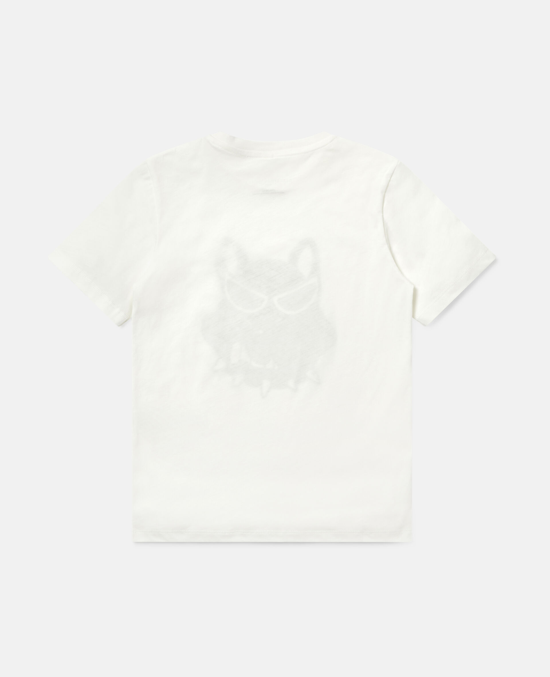 Bulldog Cotton T-shirt-White-large image number 3