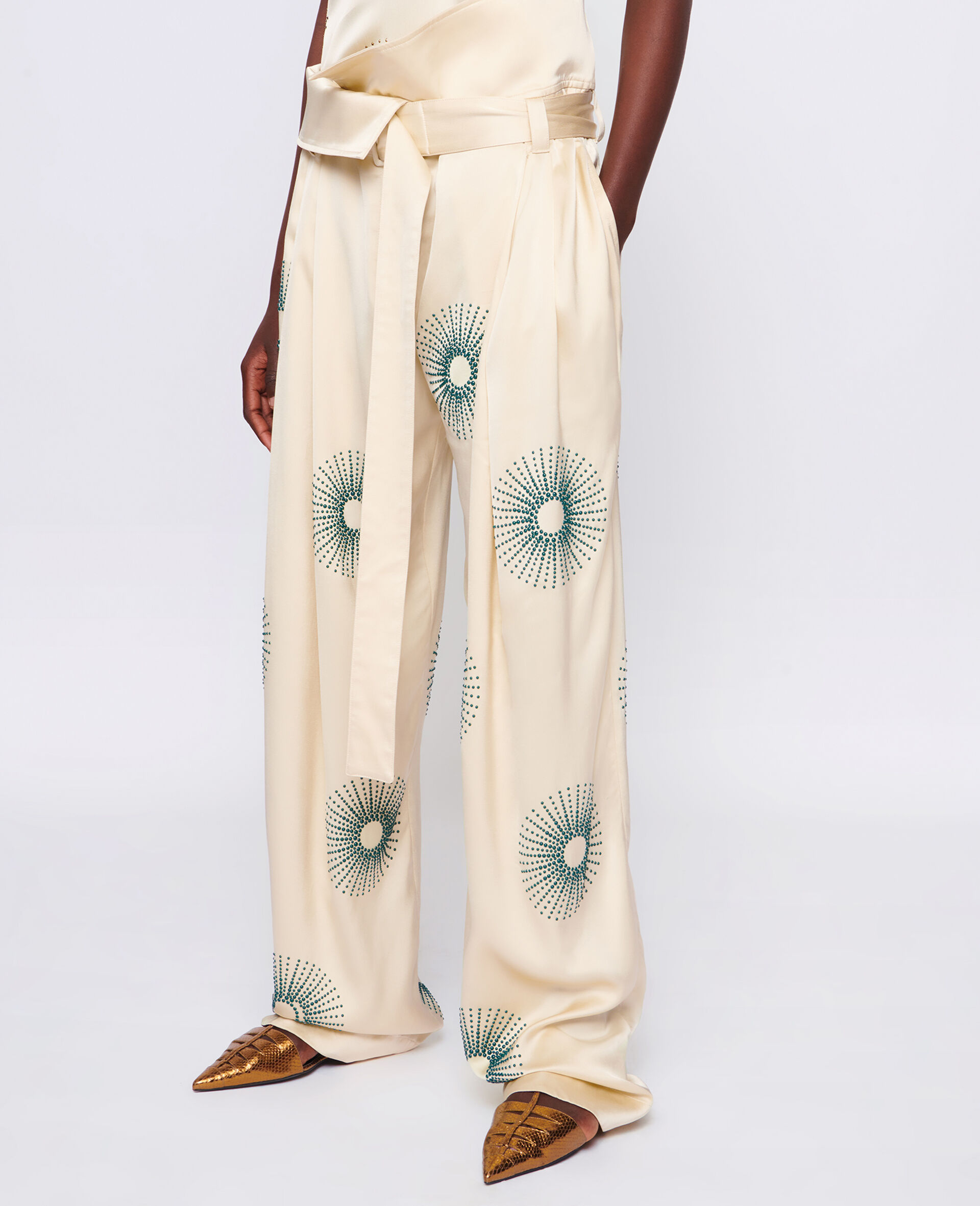 Elliana Hotfix Pants-White-large image number 3