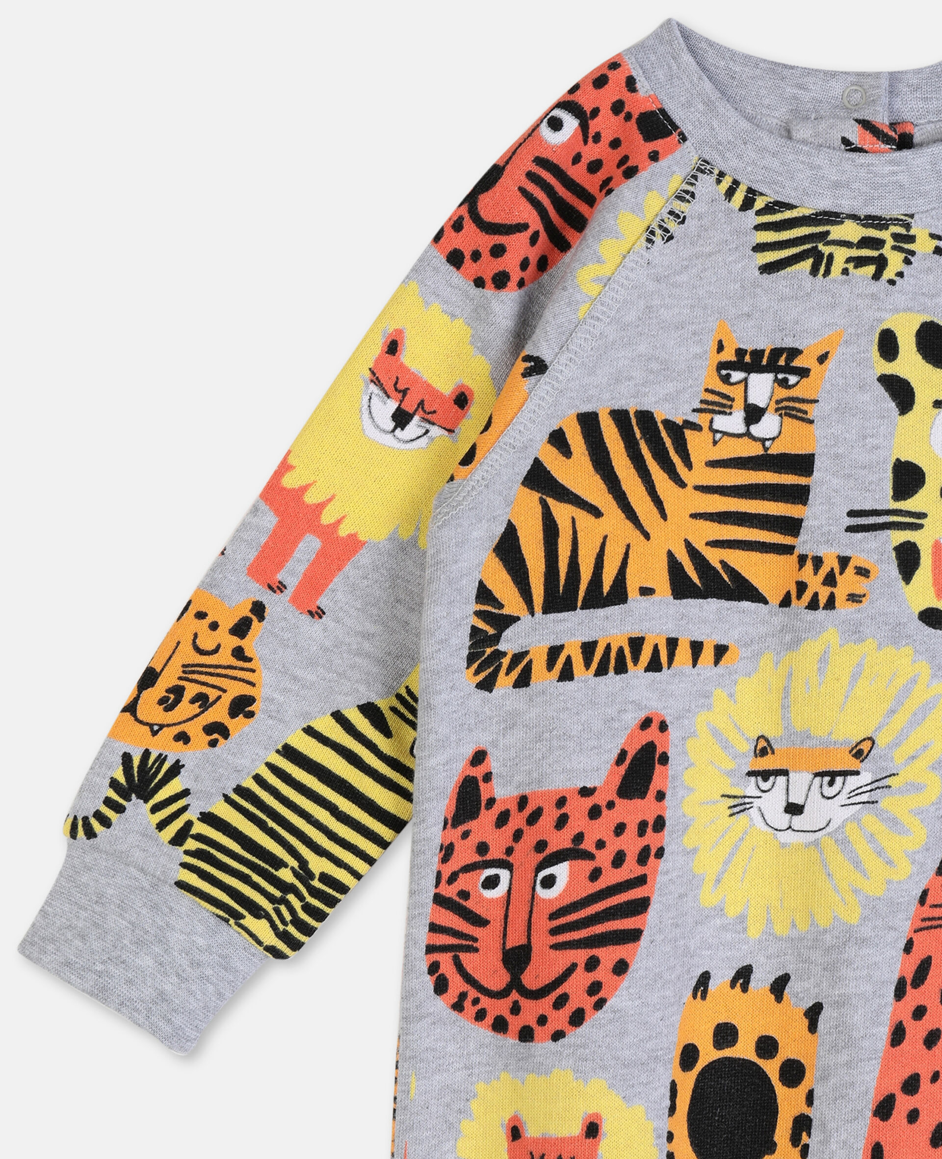 Wild Cats Cotton Jumpsuit-Multicoloured-large image number 2