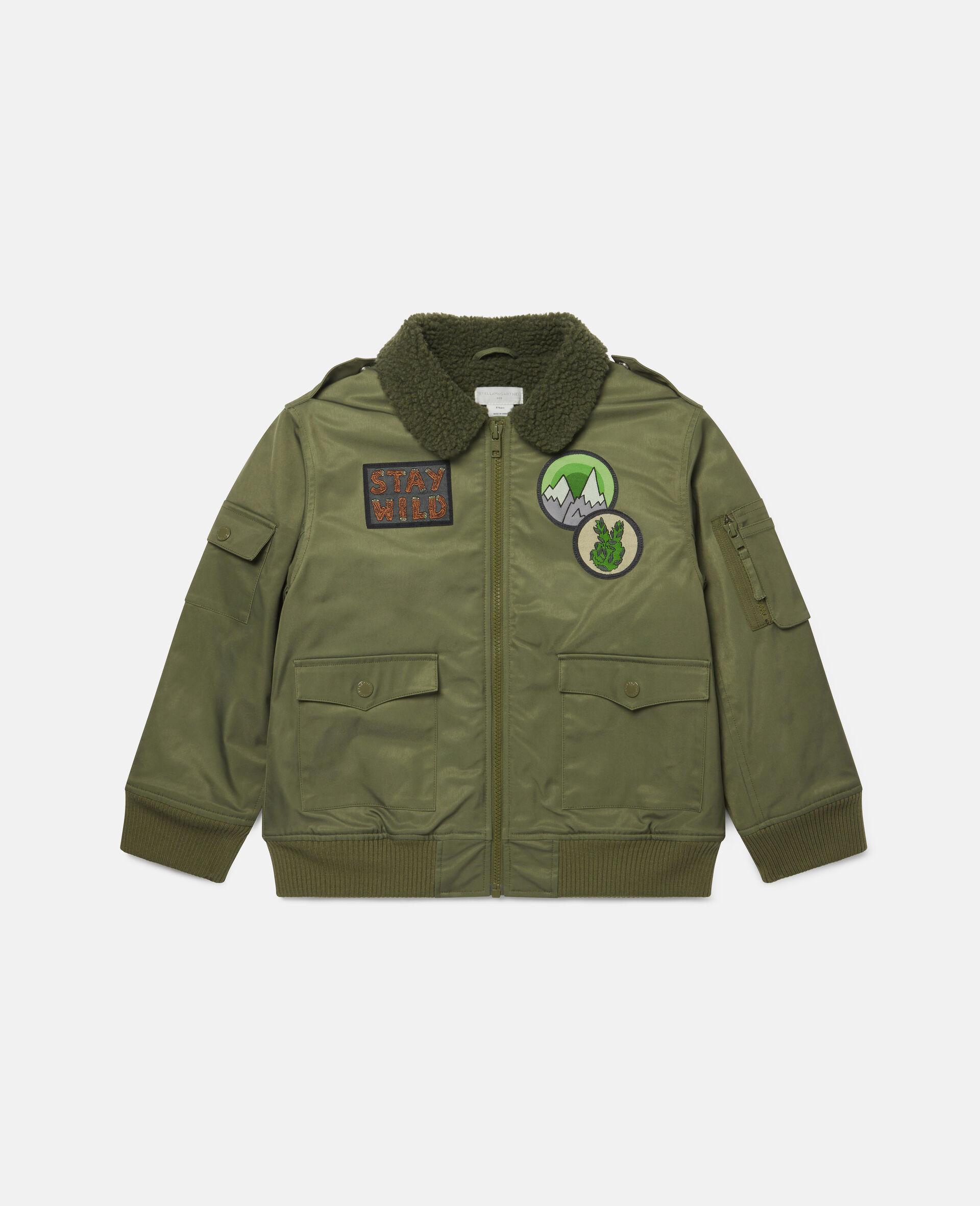 Mountain Badges Jacket-Green-large image number 0
