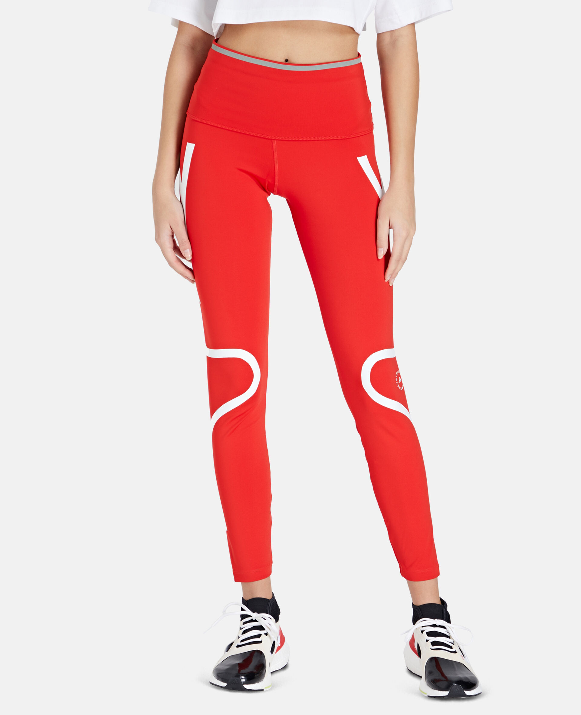 TruePace Long Running Tights-Red-large image number 4