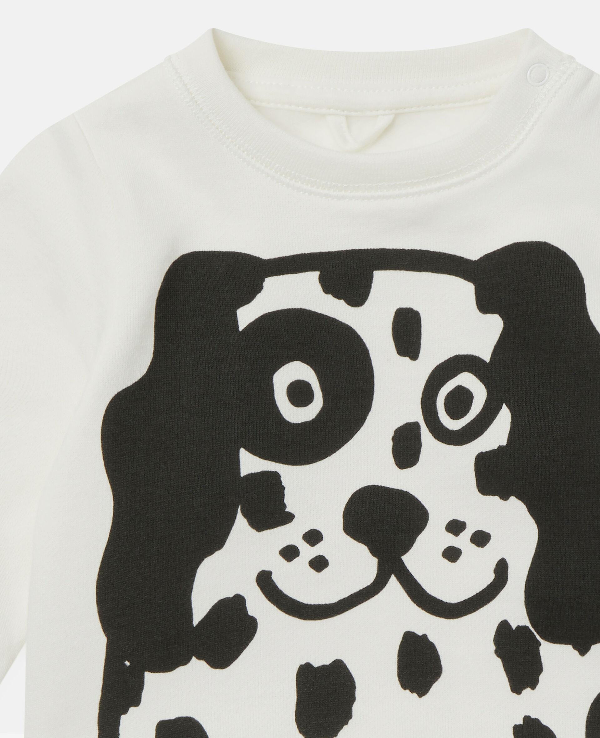 Dalmatian Sports Fleece Sweatshirt-White-large image number 1