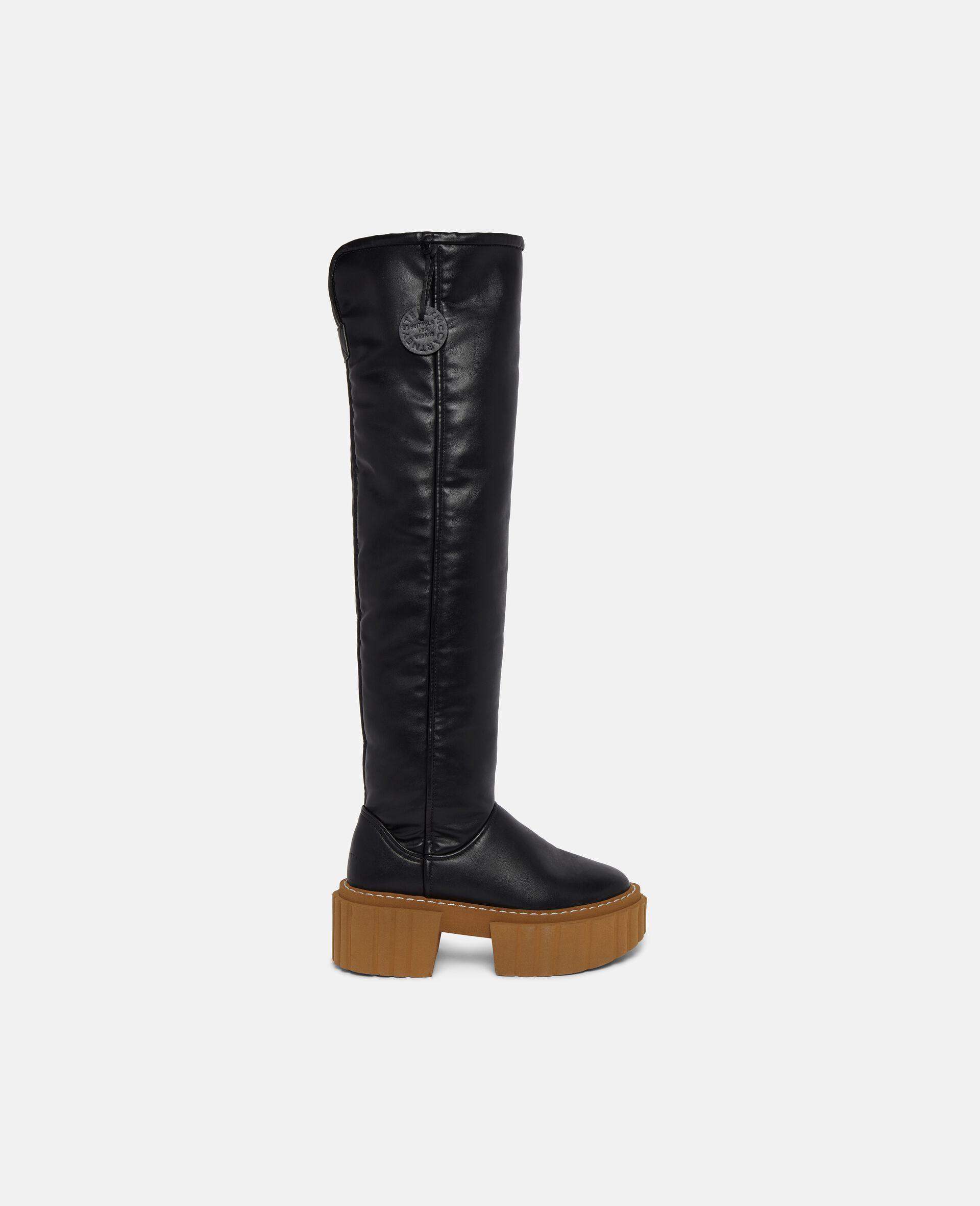 Over-The-Knee Emilie Teddy Boots-Black-large image number 0