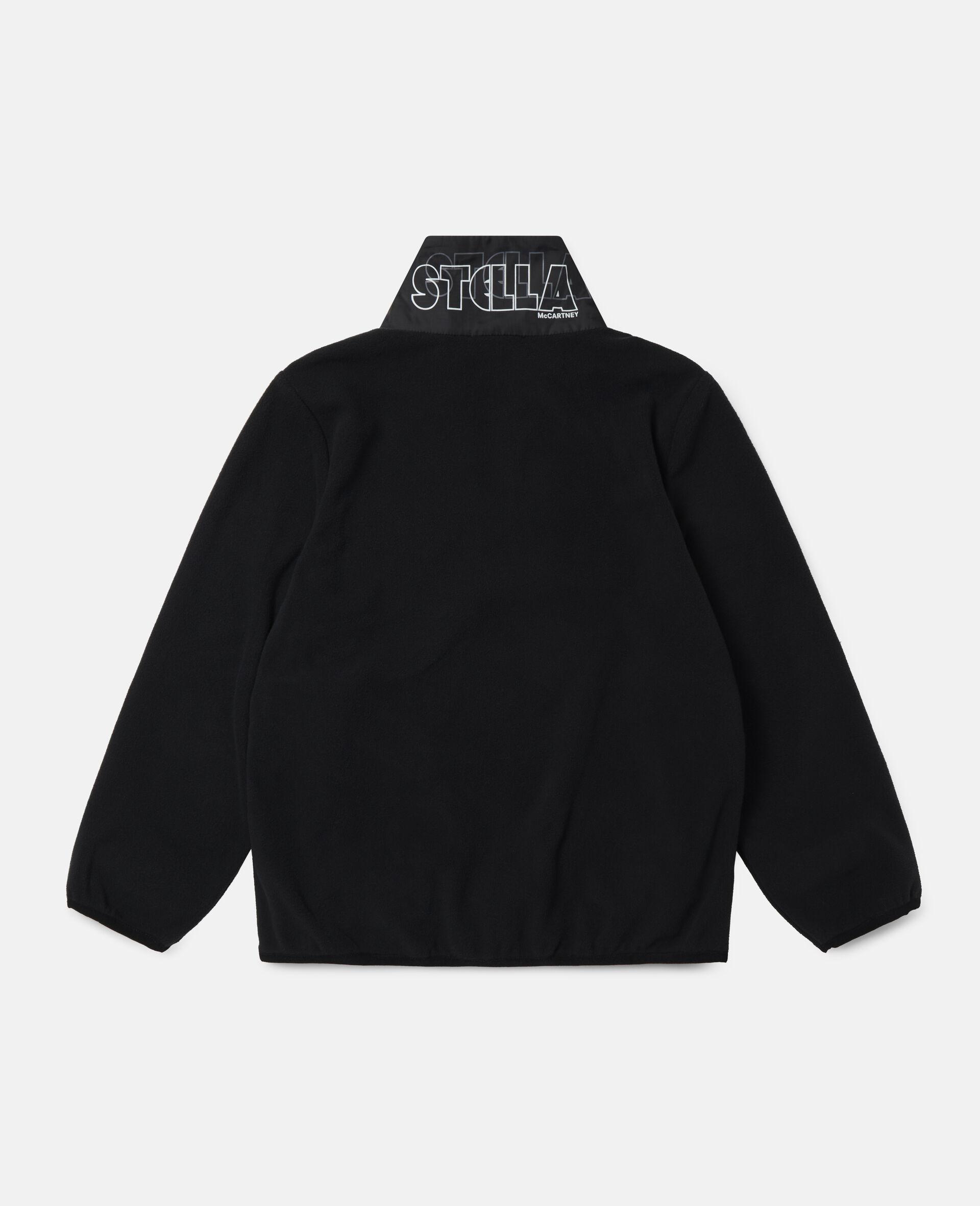 Sweat-shirt en polaire sportif Stella-Noir-large image number 3