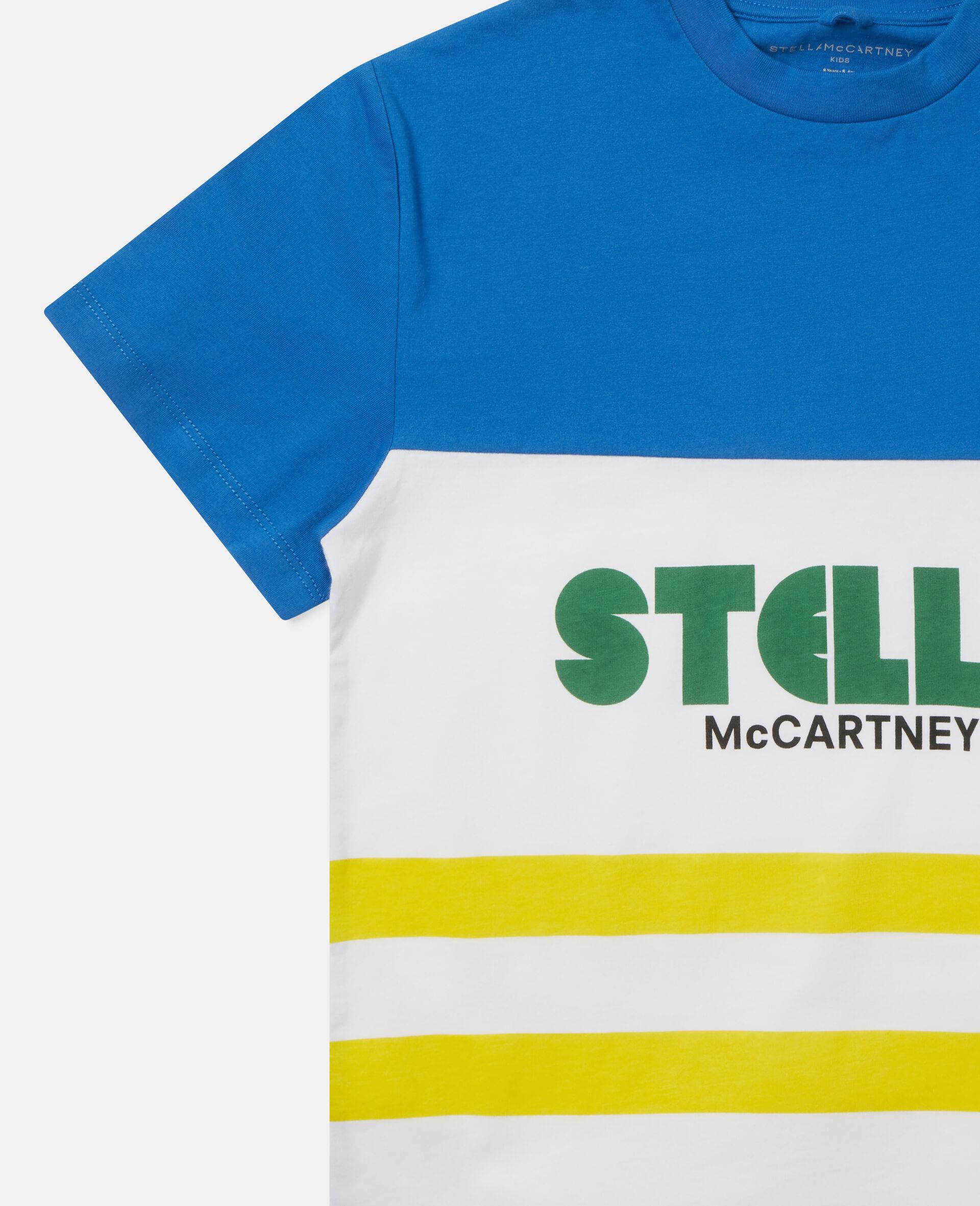 Oversized Logo Cotton T-shirt-Multicolour-large image number 2