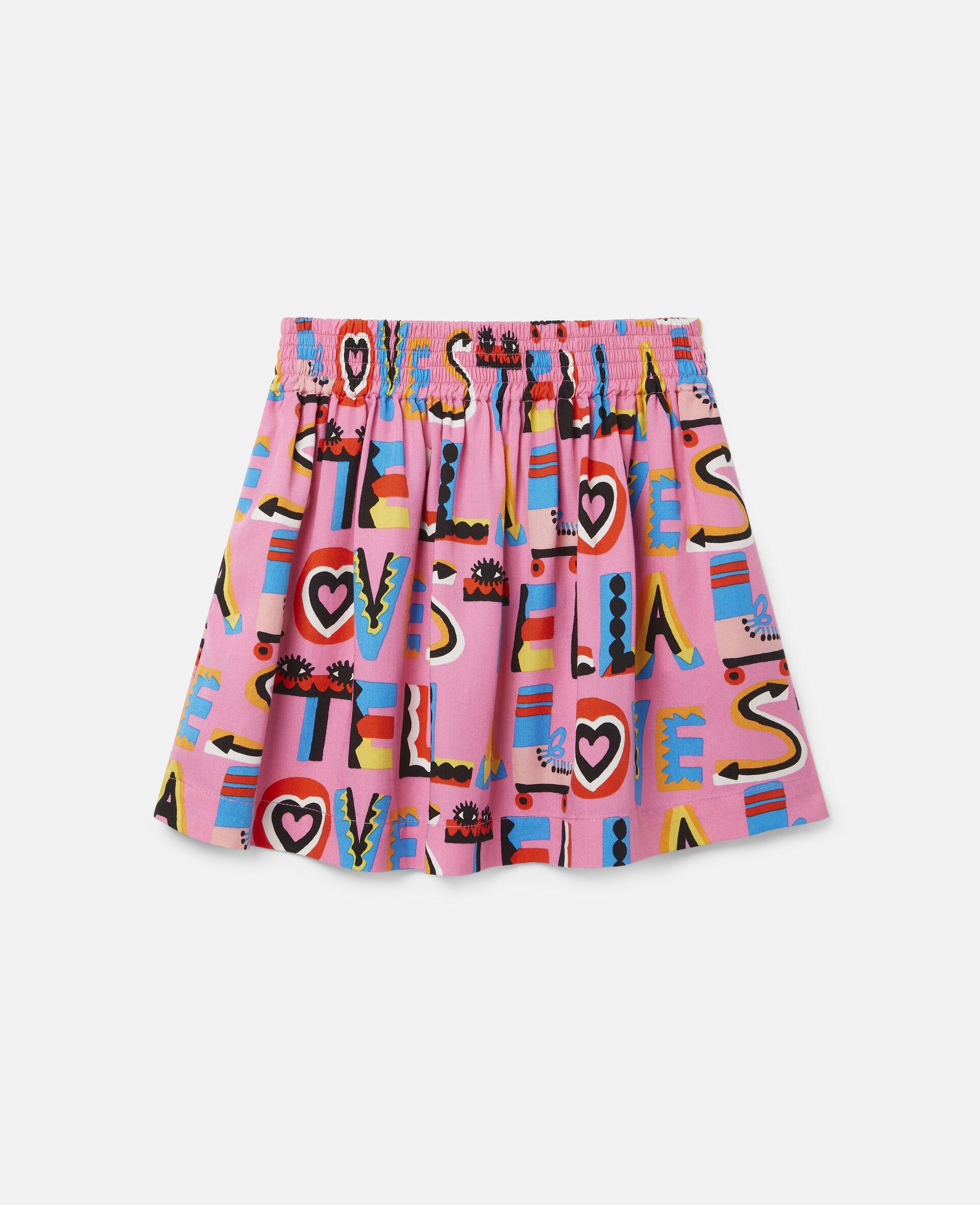 Stella Loves Twill Skirt-Pink-large image number 0