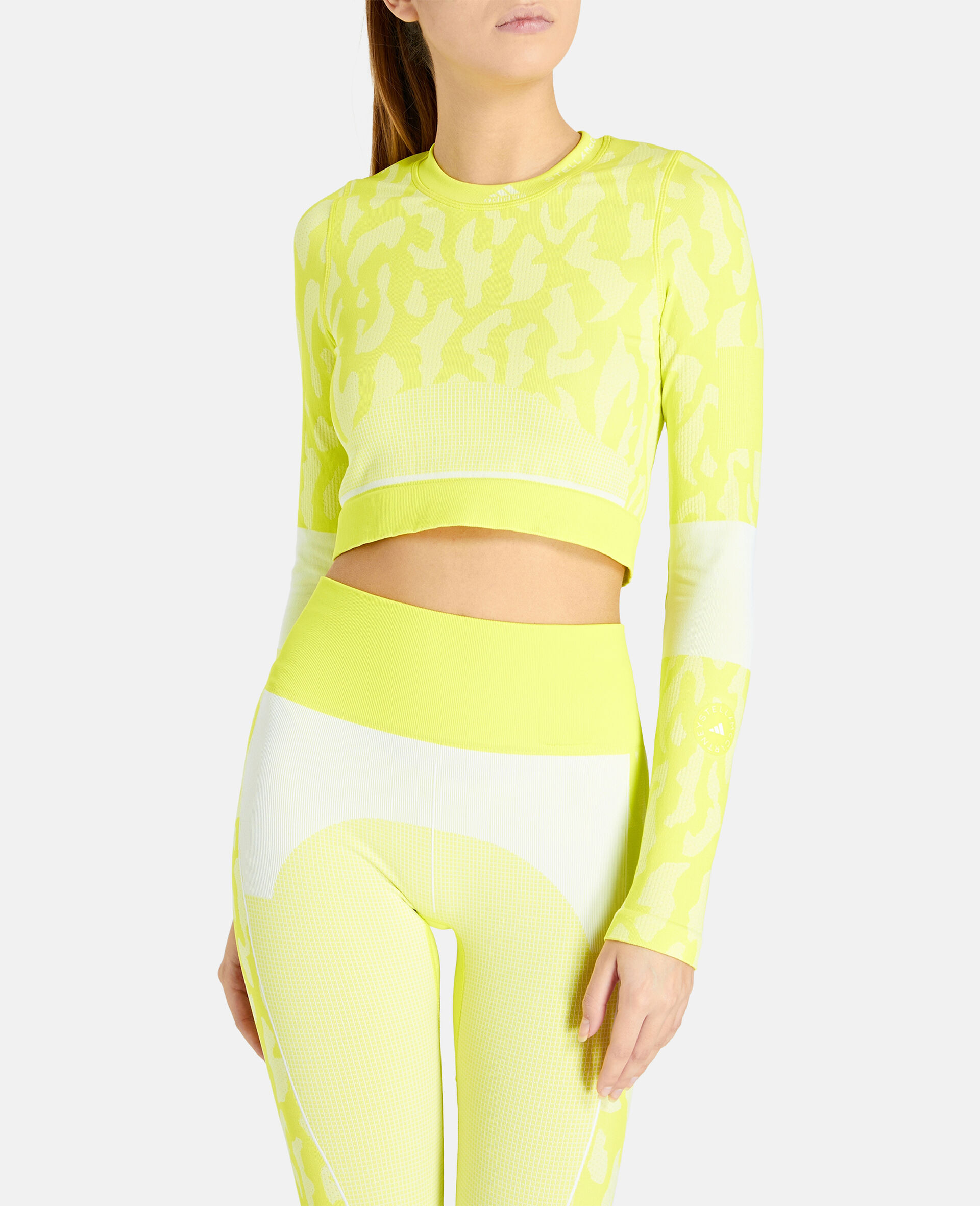 TruePurpose Seamless Training Crop Top -Yellow-large image number 4