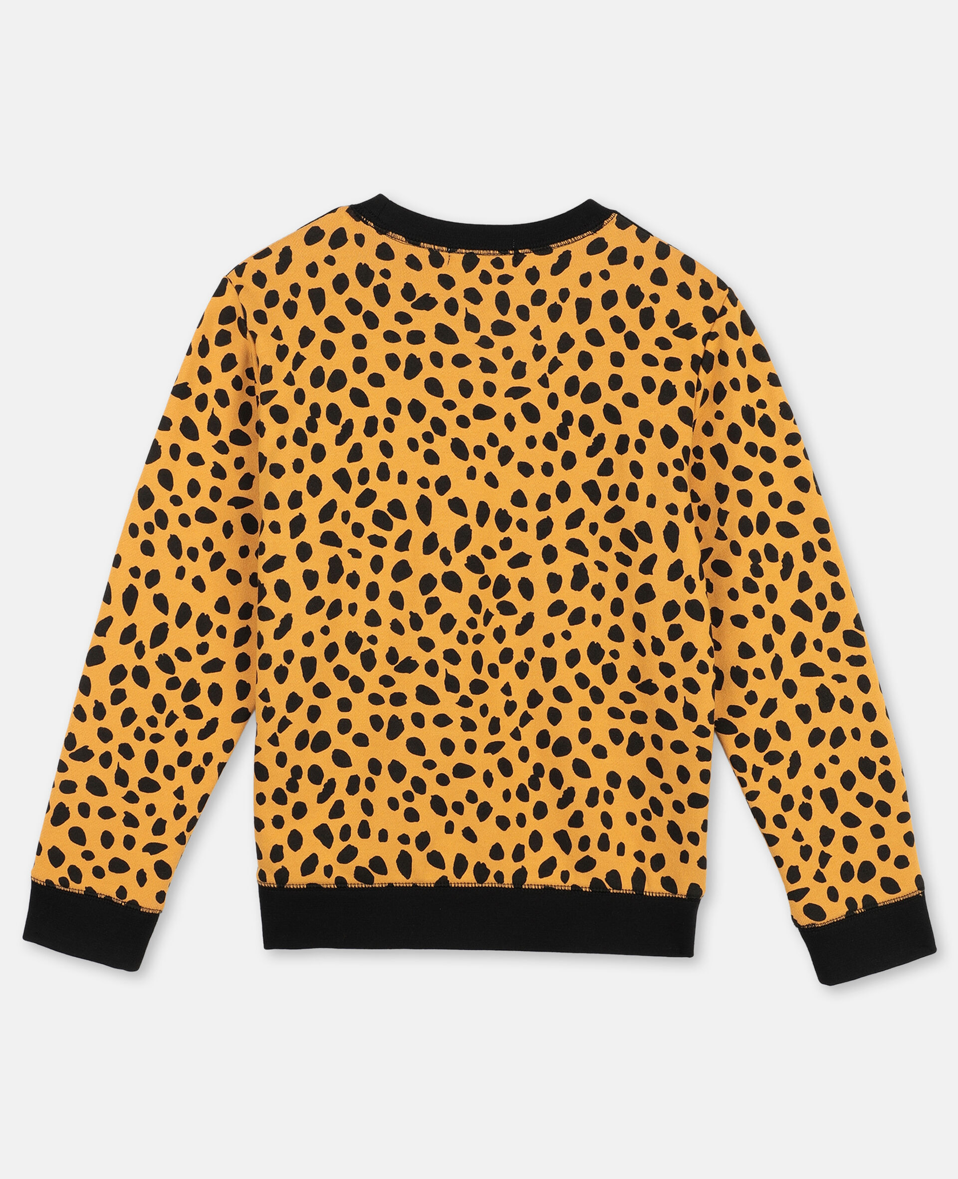 Cheetah Dots Cotton Fleece Sweatshirt -Multicolour-large image number 3