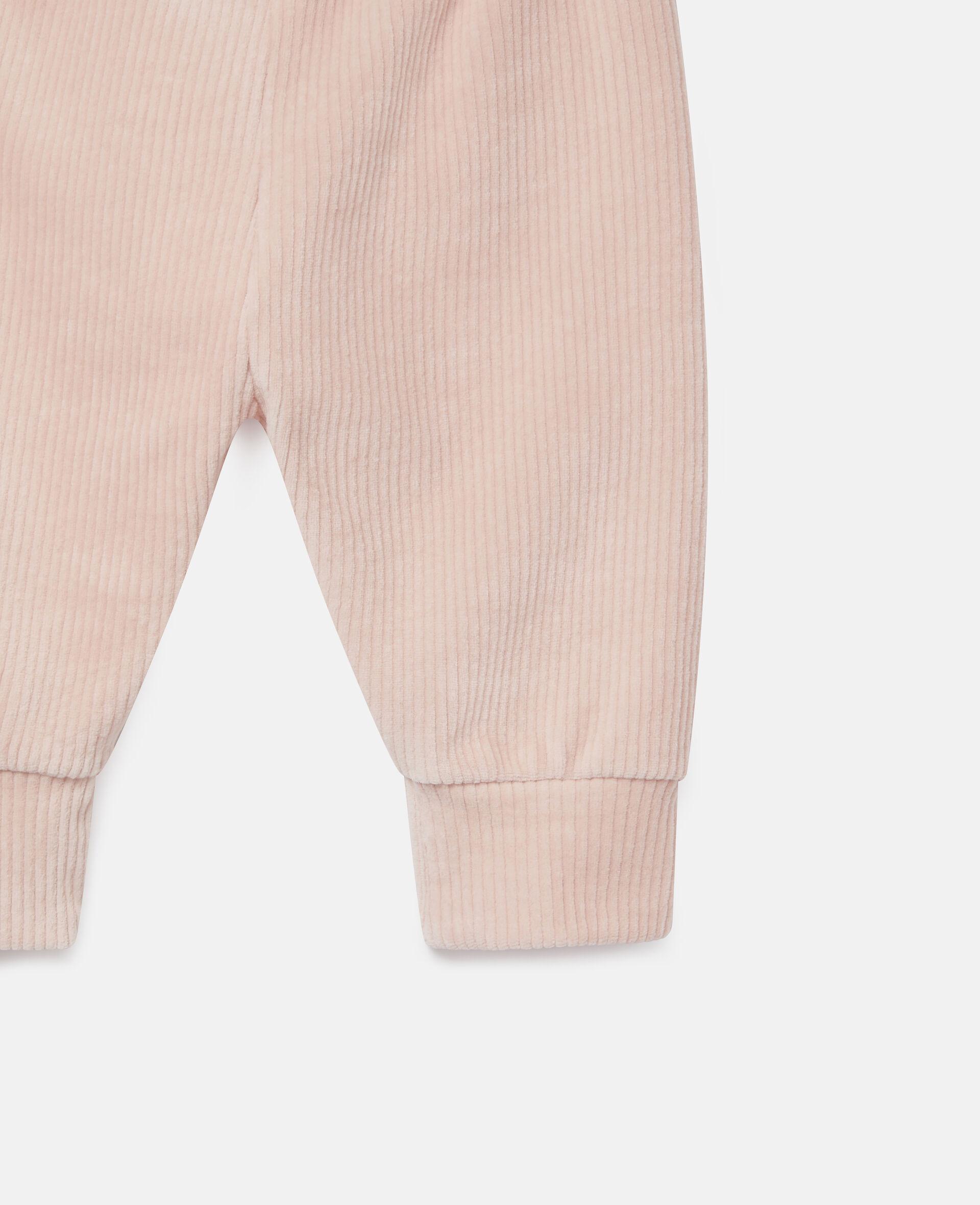 Pantalon de jogging en velours-Rose-large image number 1