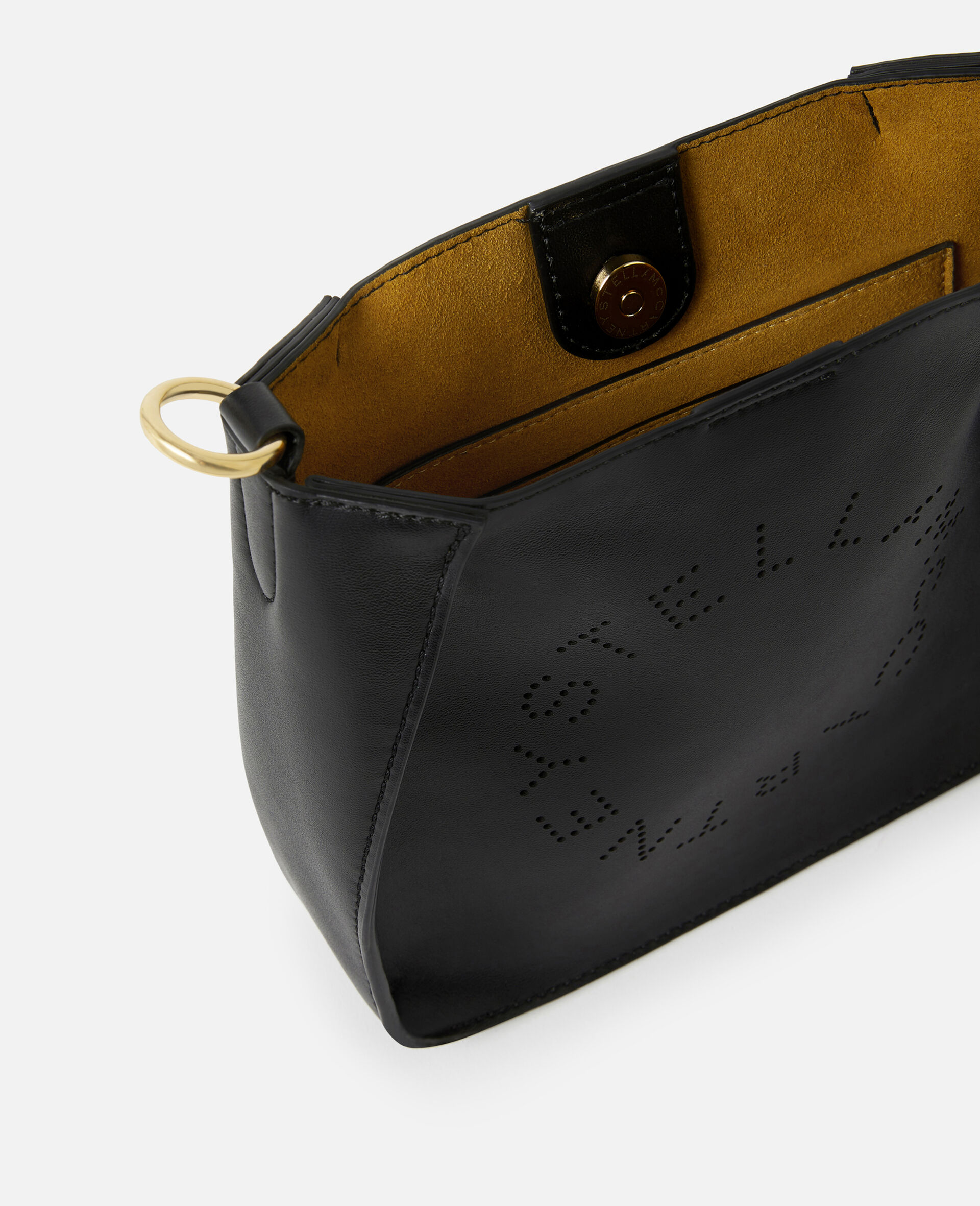Mini Stella Logo Shoulder Bag -Black-large image number 3