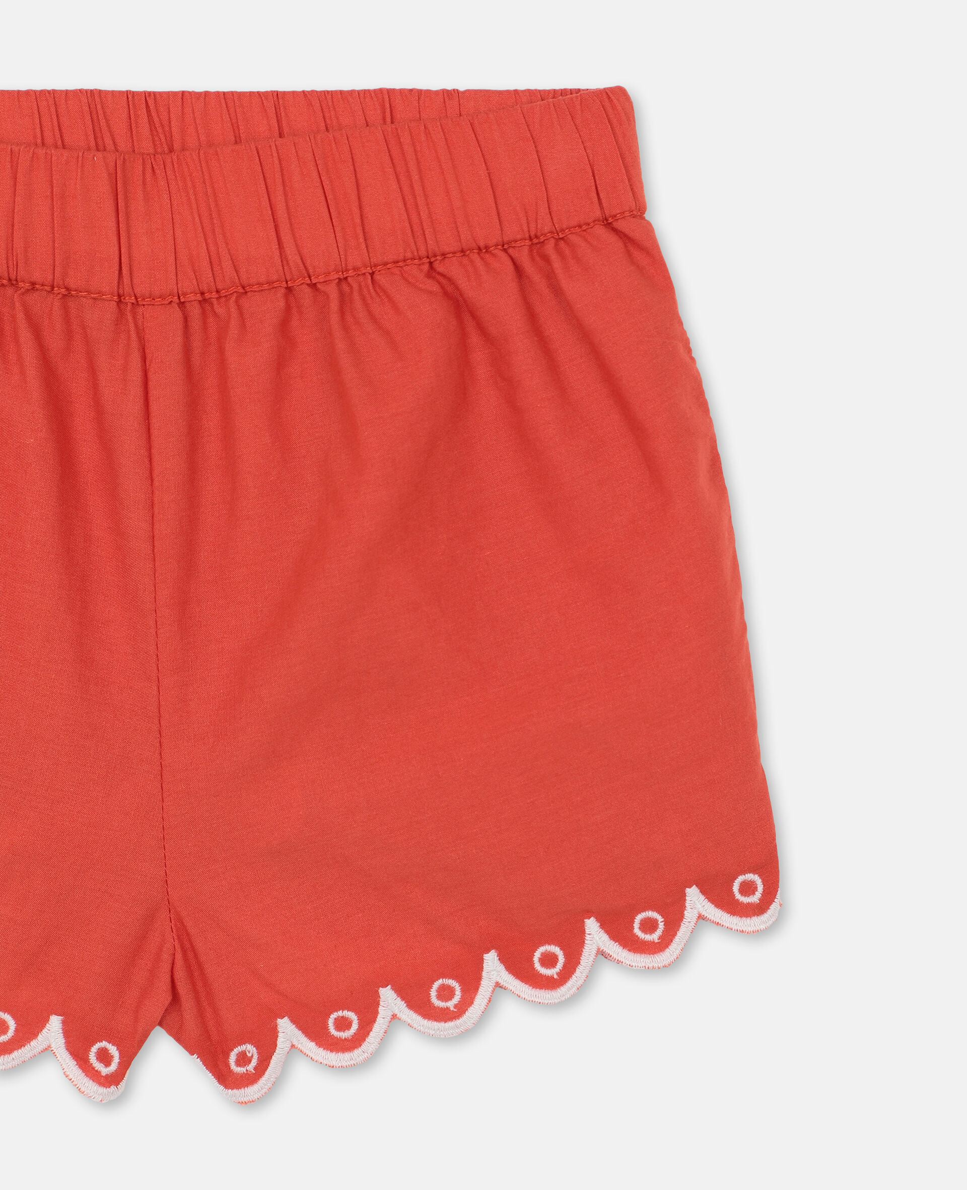 Scalloped Cotton Set -Red-large image number 2