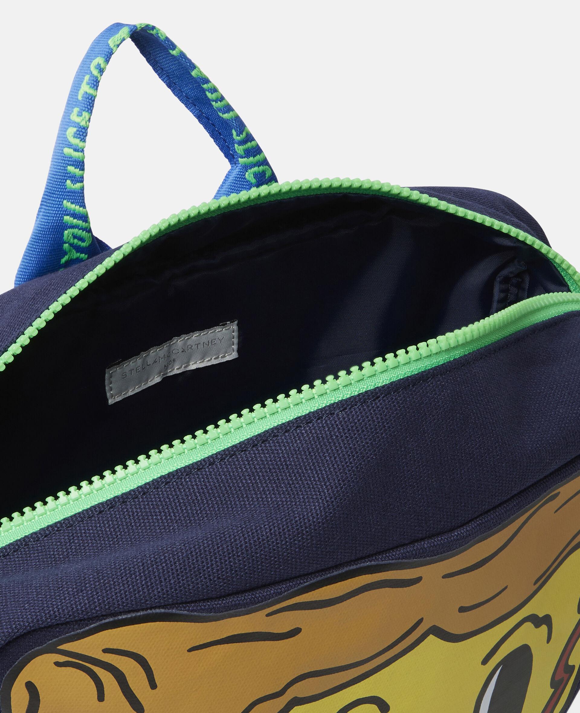 Pizza Slice Canvas Backpack-Blue-large image number 2