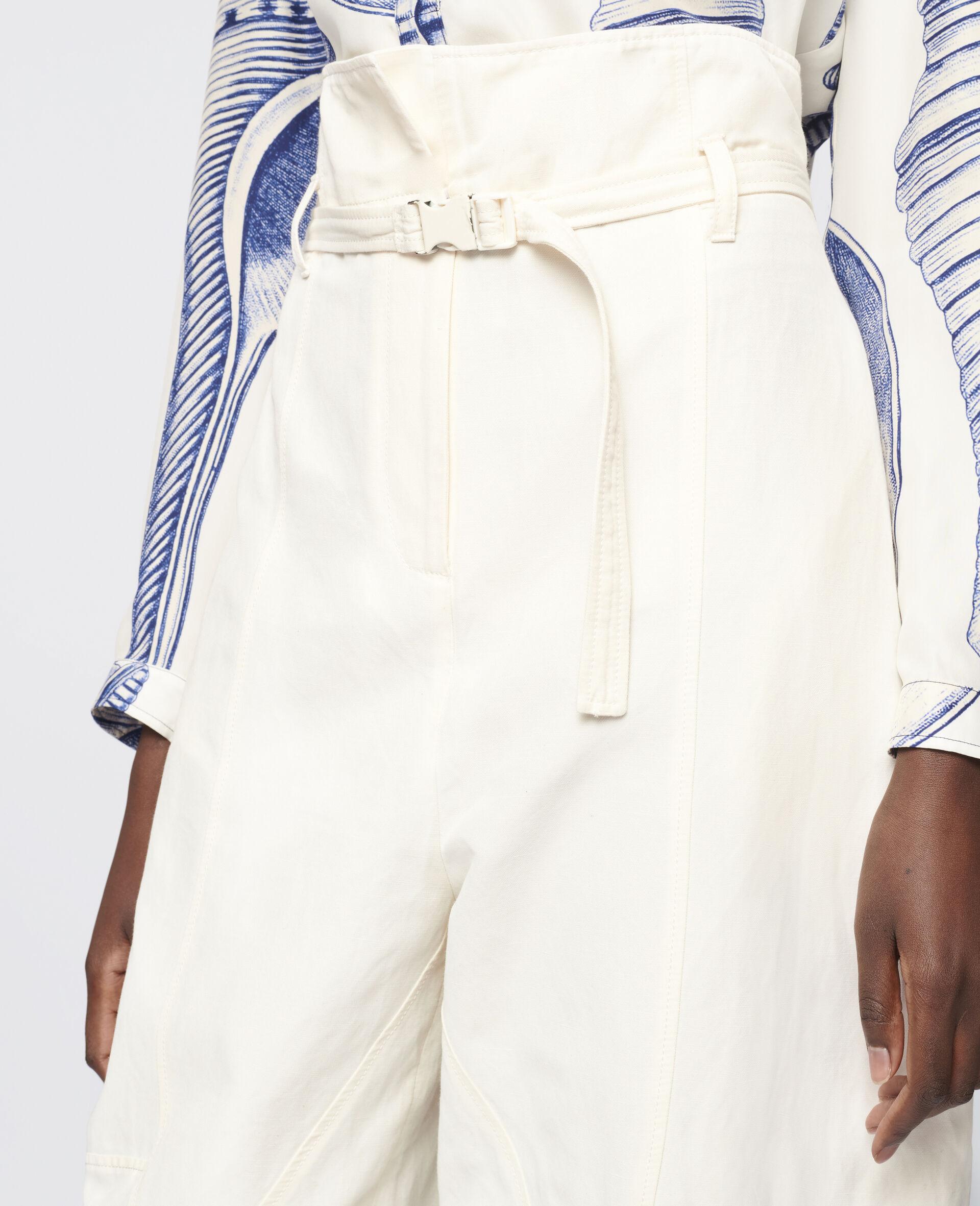 Pantalon Daisy fuselé-Blanc-large image number 3