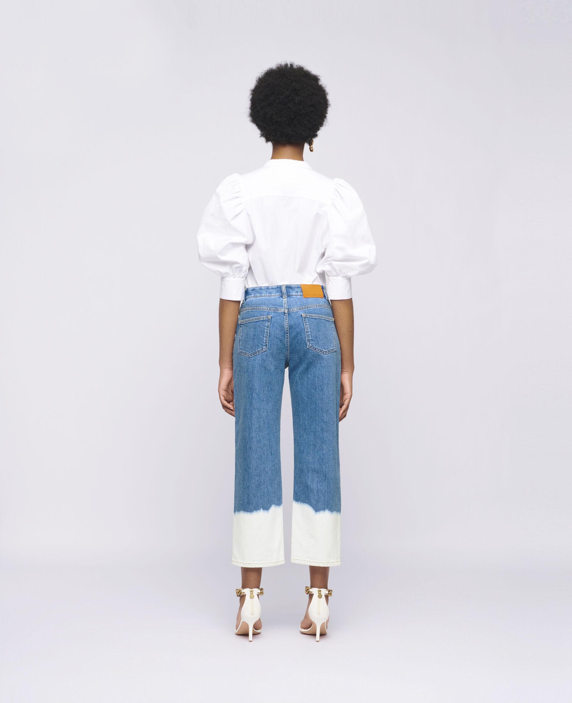浸染褪色牛仔裤 -蓝色-large image number 2