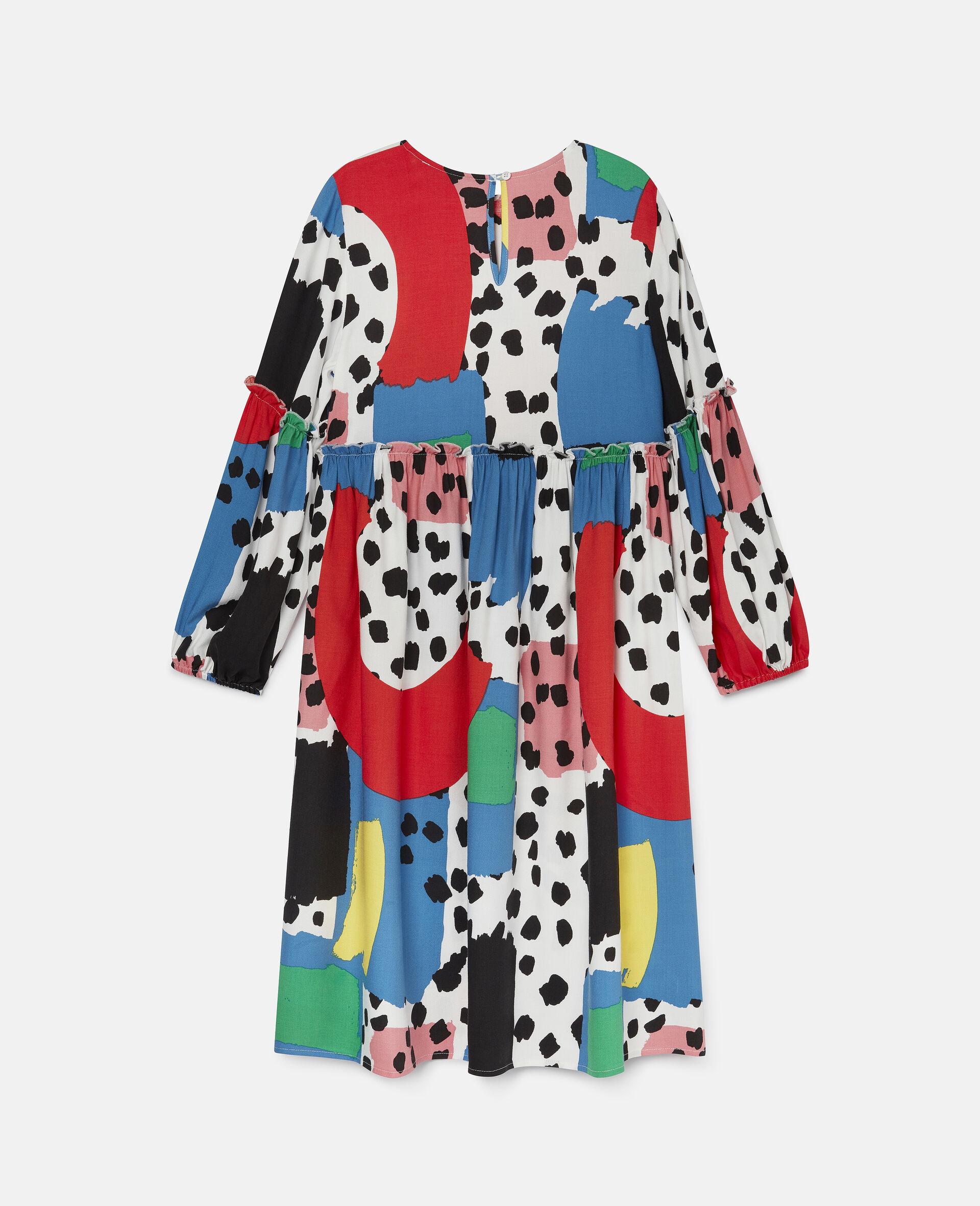 Dalmatian Spots Twill Dress-Multicolour-large image number 3