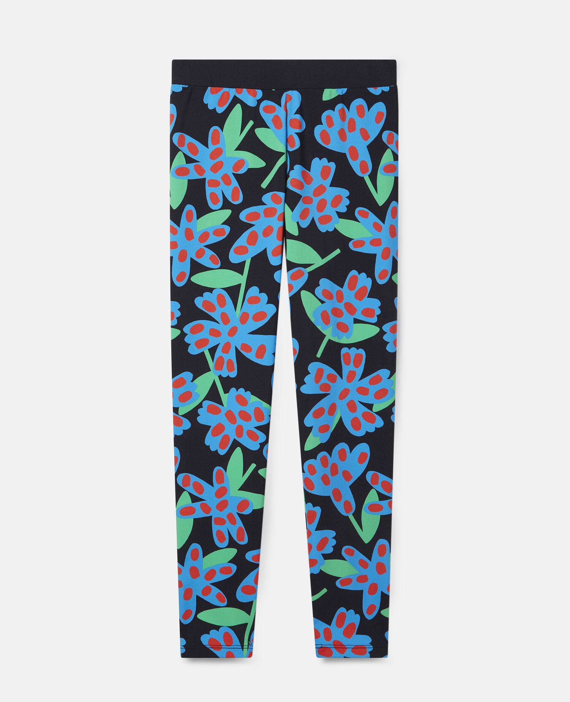 Übergroße Leggings mit gepunkteten Blumen-Bunt-large image number 0