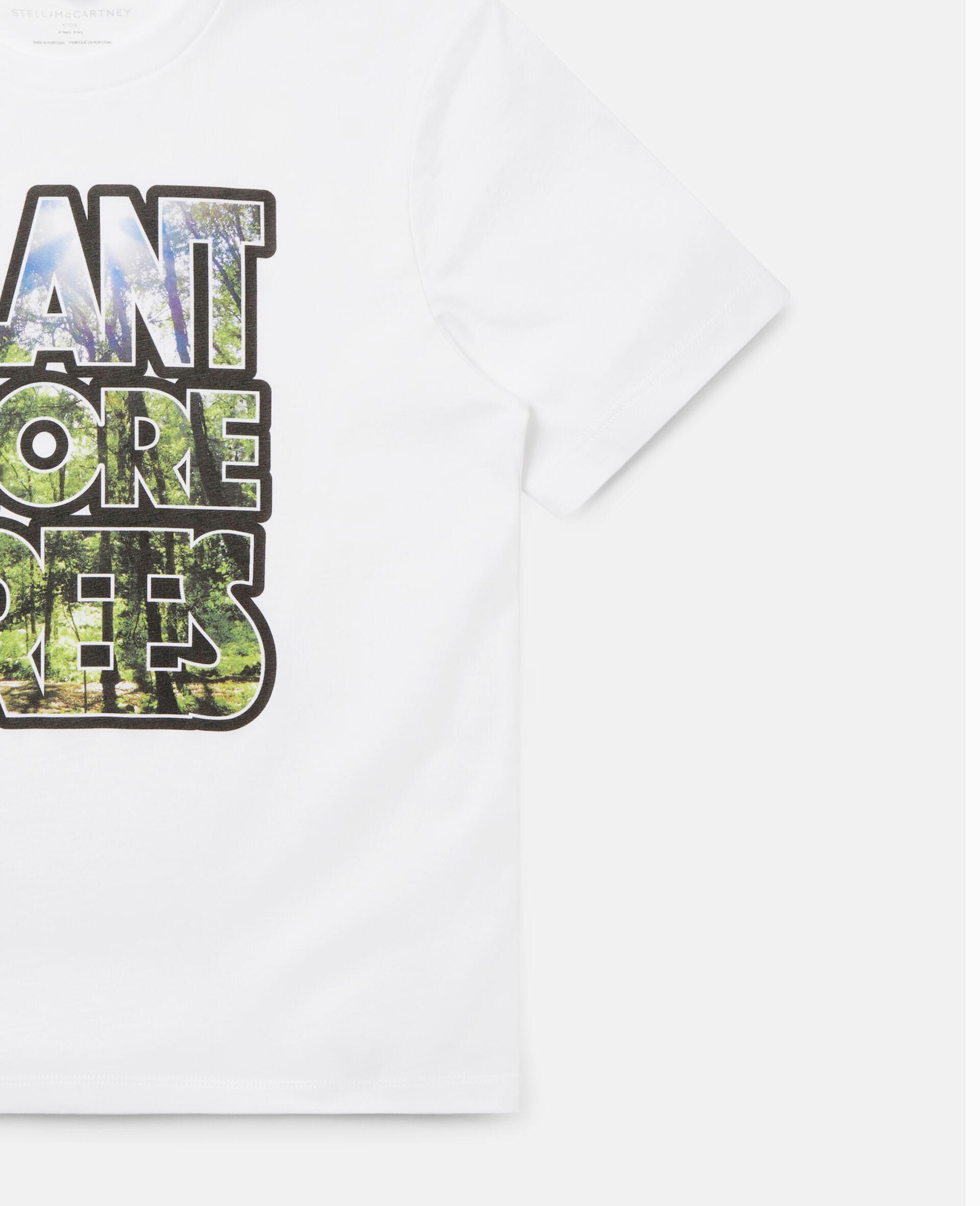 Oversized 'Plant More Trees' T-shirt-White-large image number 1