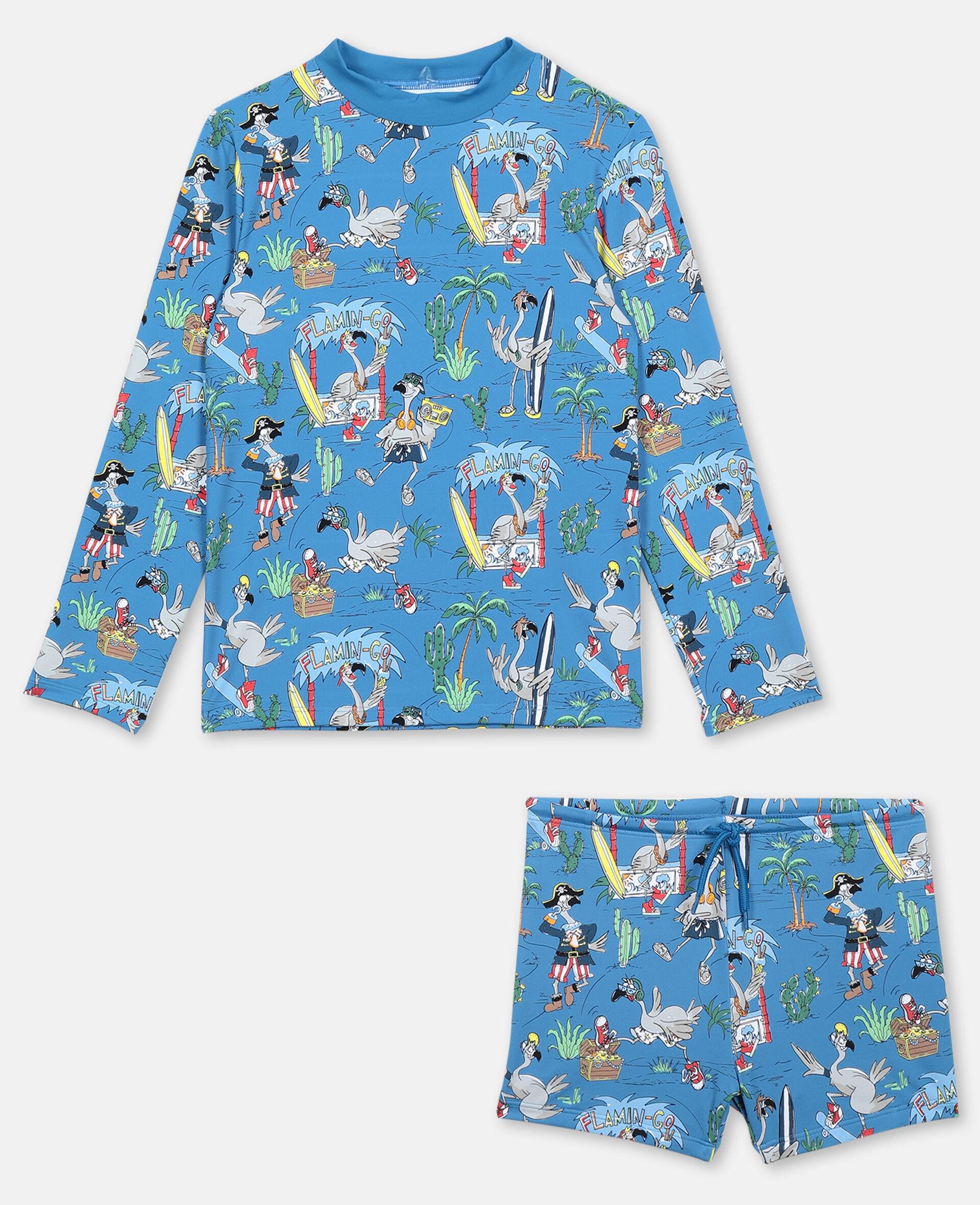 Flamingo Land Swim Set -Blue-large image number 0