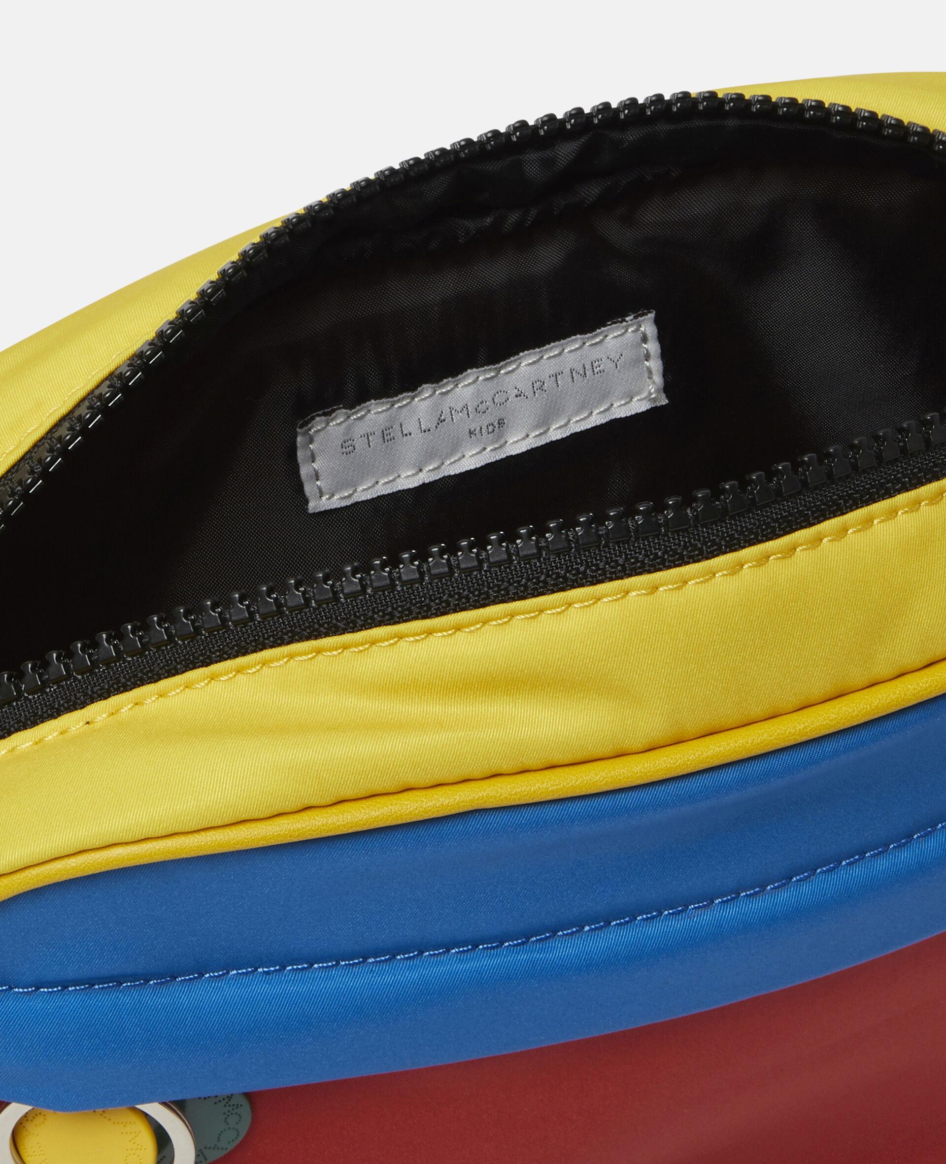 Colourblock Logo Shoulder Bag -Multicolour-large image number 2