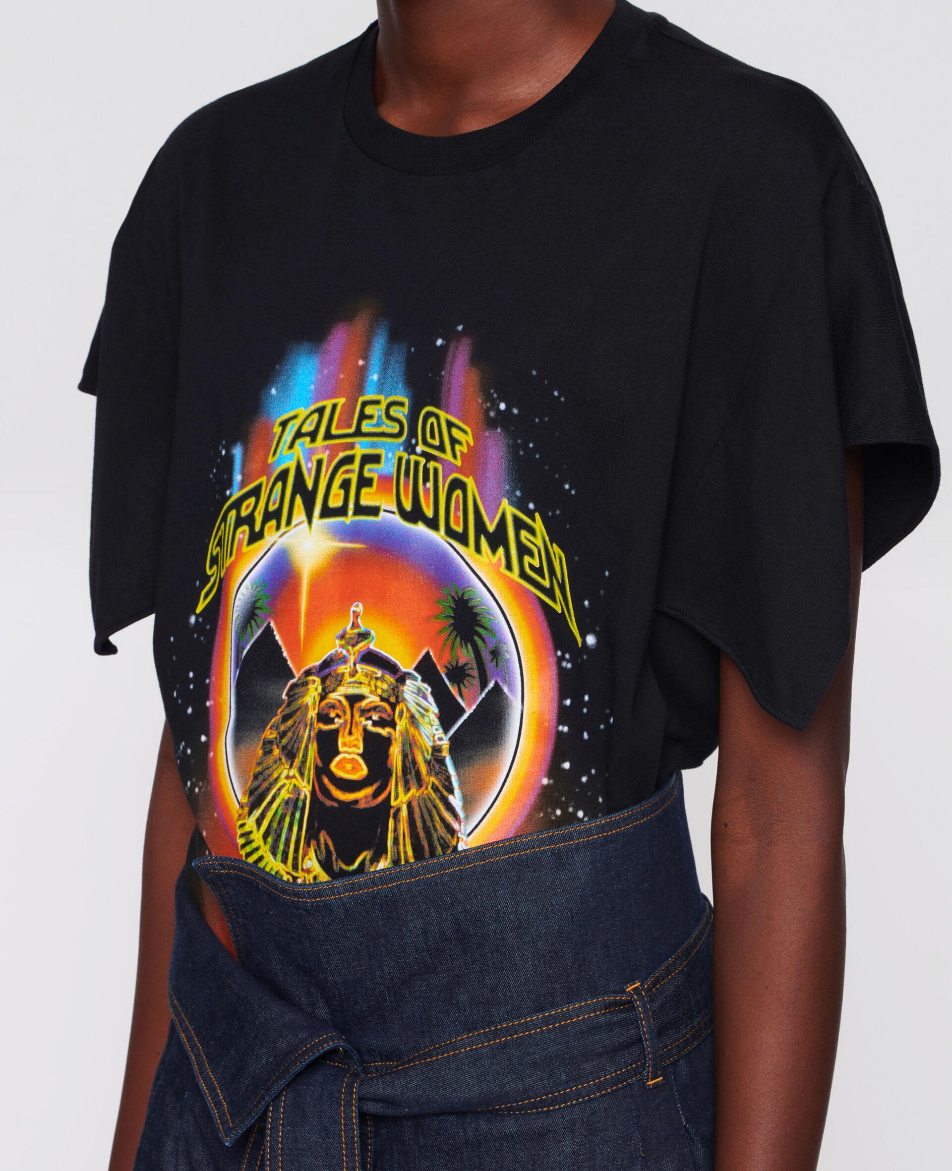 "T-Shirt ""Tales of a strange woman""-Schwarz-large image number 3"