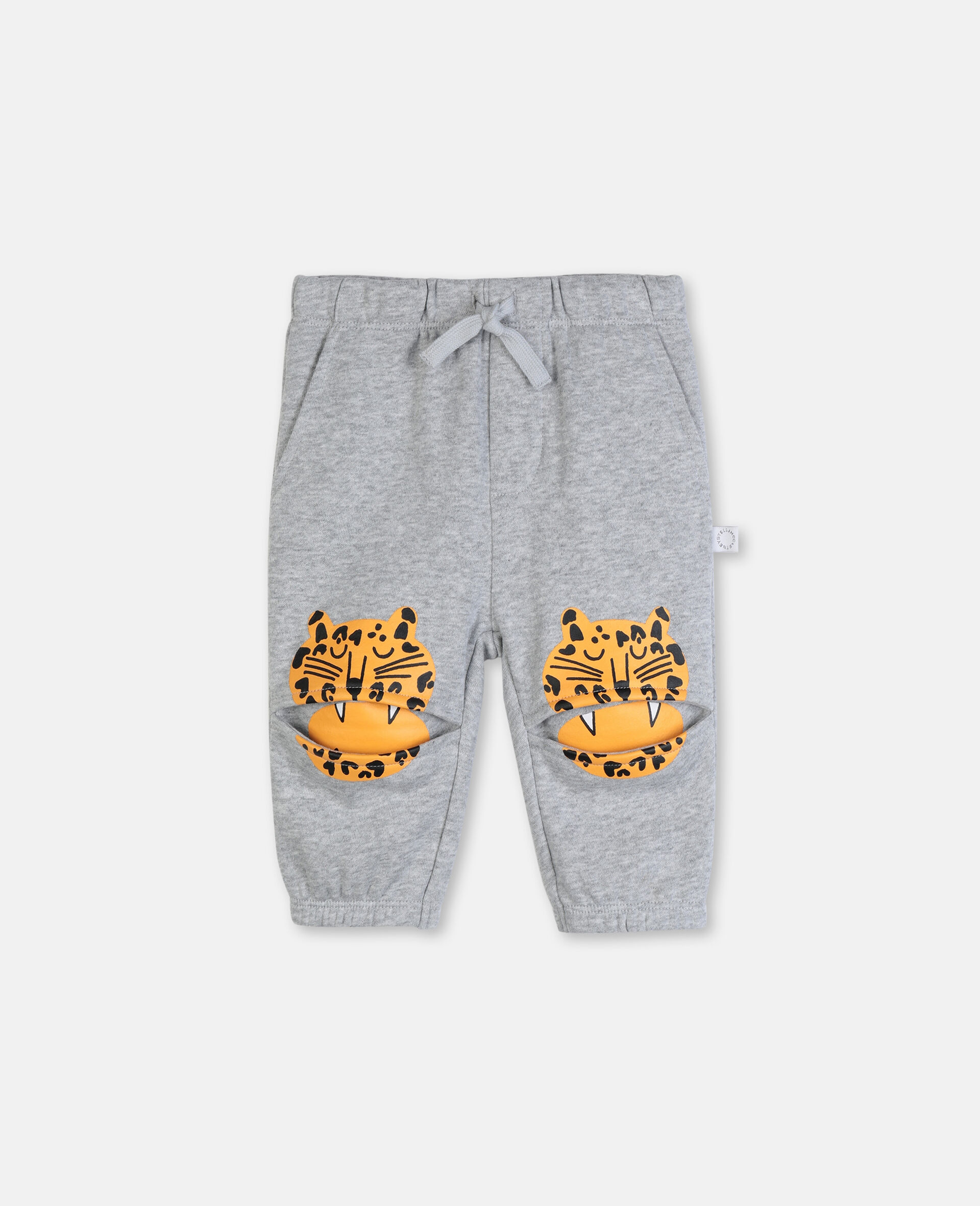 Funny Tiger Cotton Sweatpants-Grey-large image number 0
