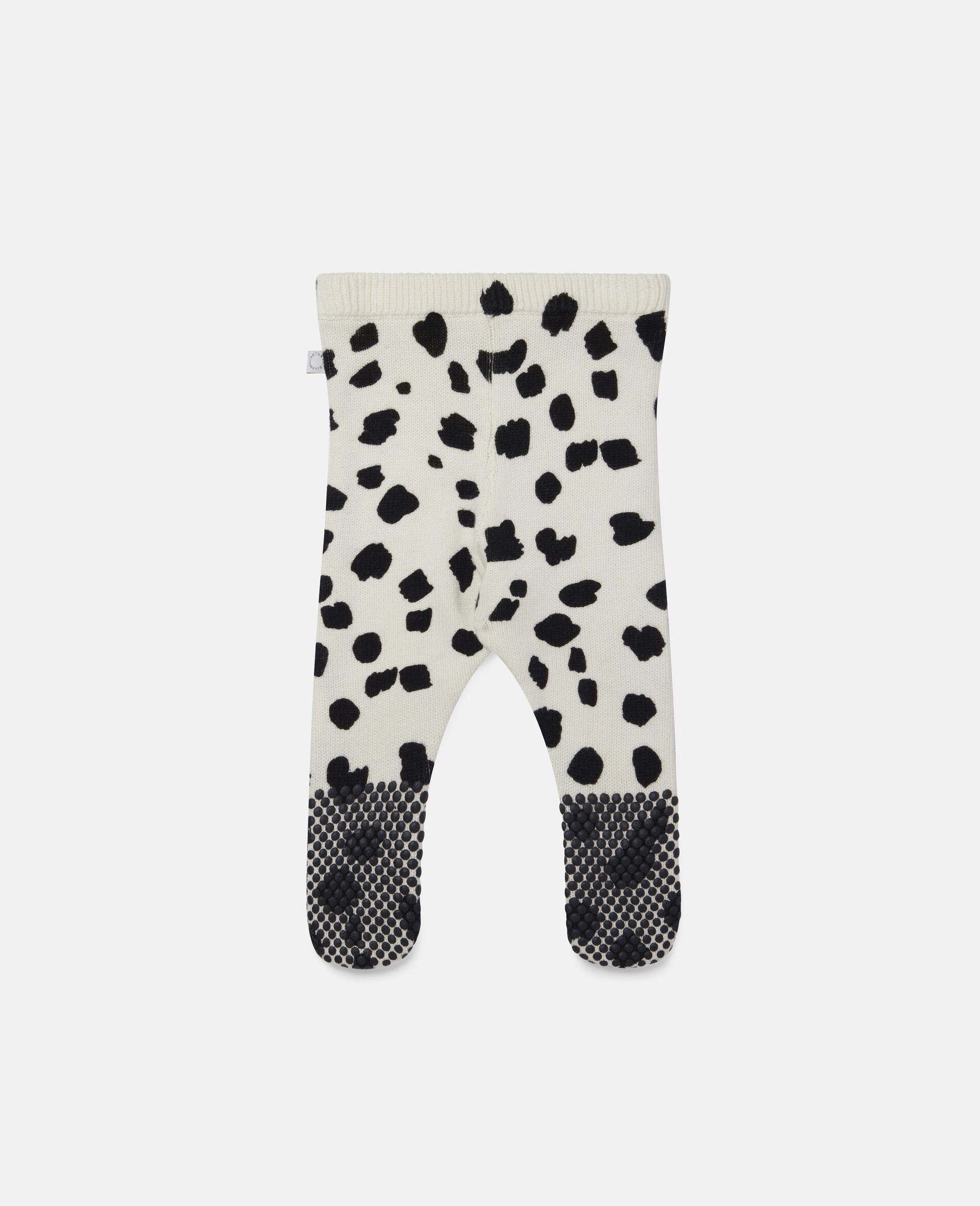 Dalmatian Spots Knit Leggings-White-large image number 3