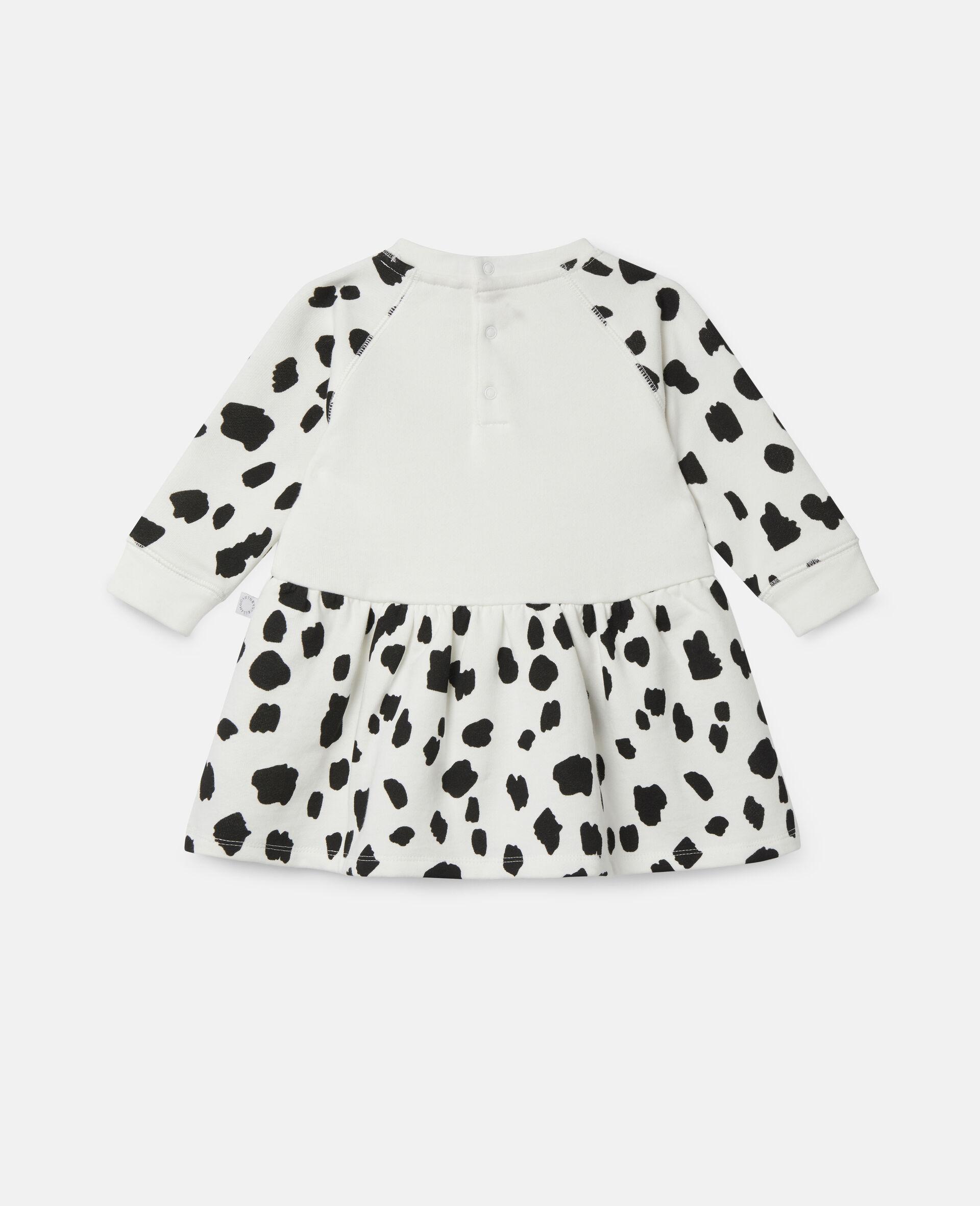 Dalmatian Sports Fleece Dress-White-large image number 3