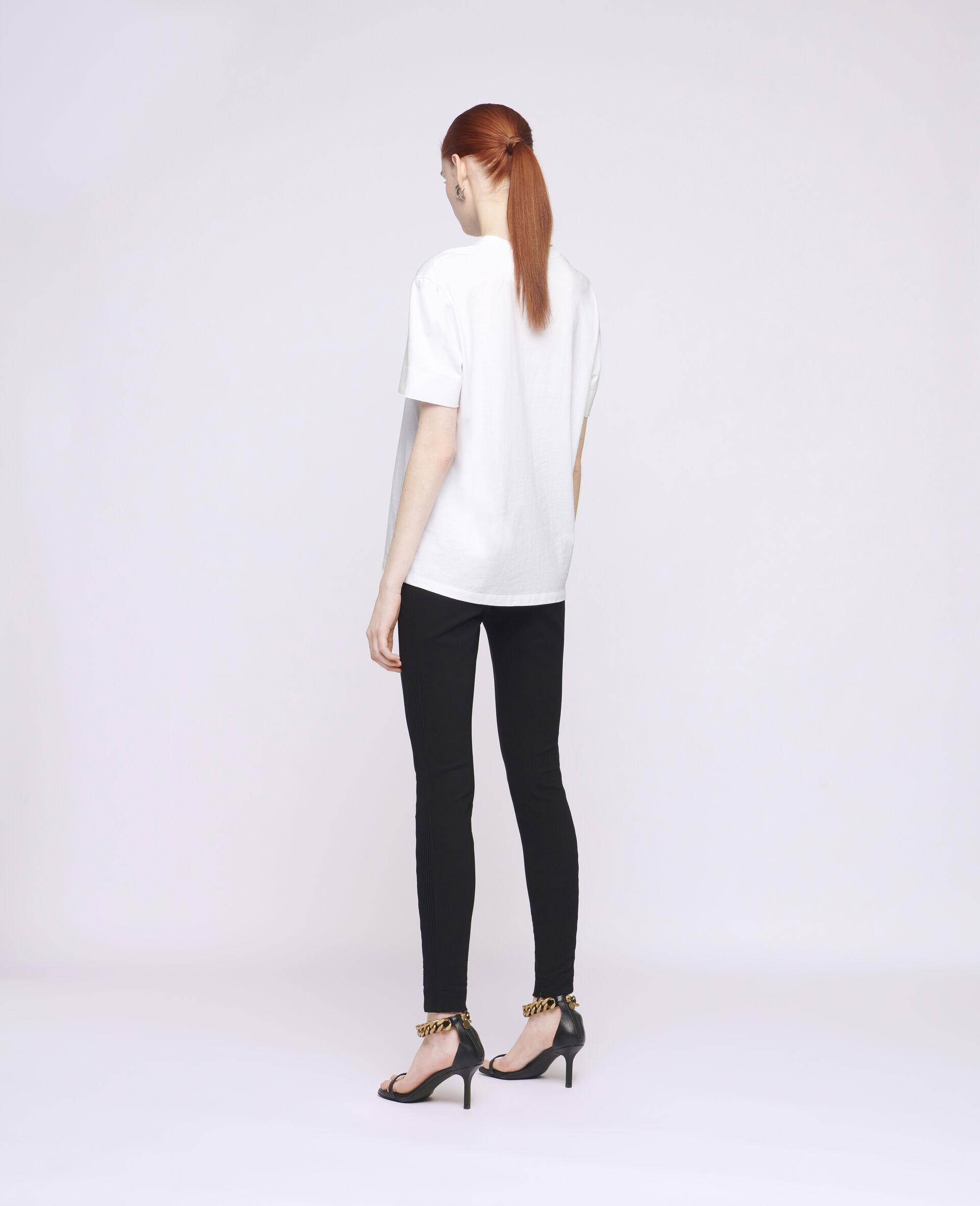 Logo Cotton T-Shirt-White-large image number 2