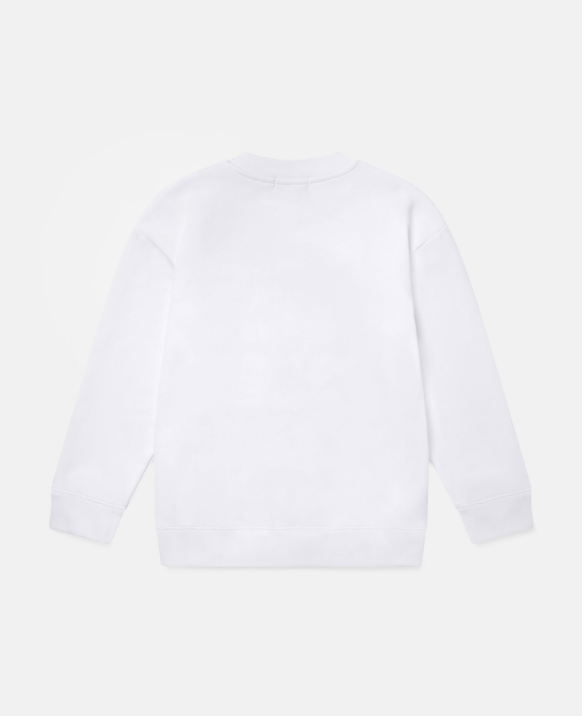 披萨滑板运动员印花抓绒运动衫-白色-large image number 3