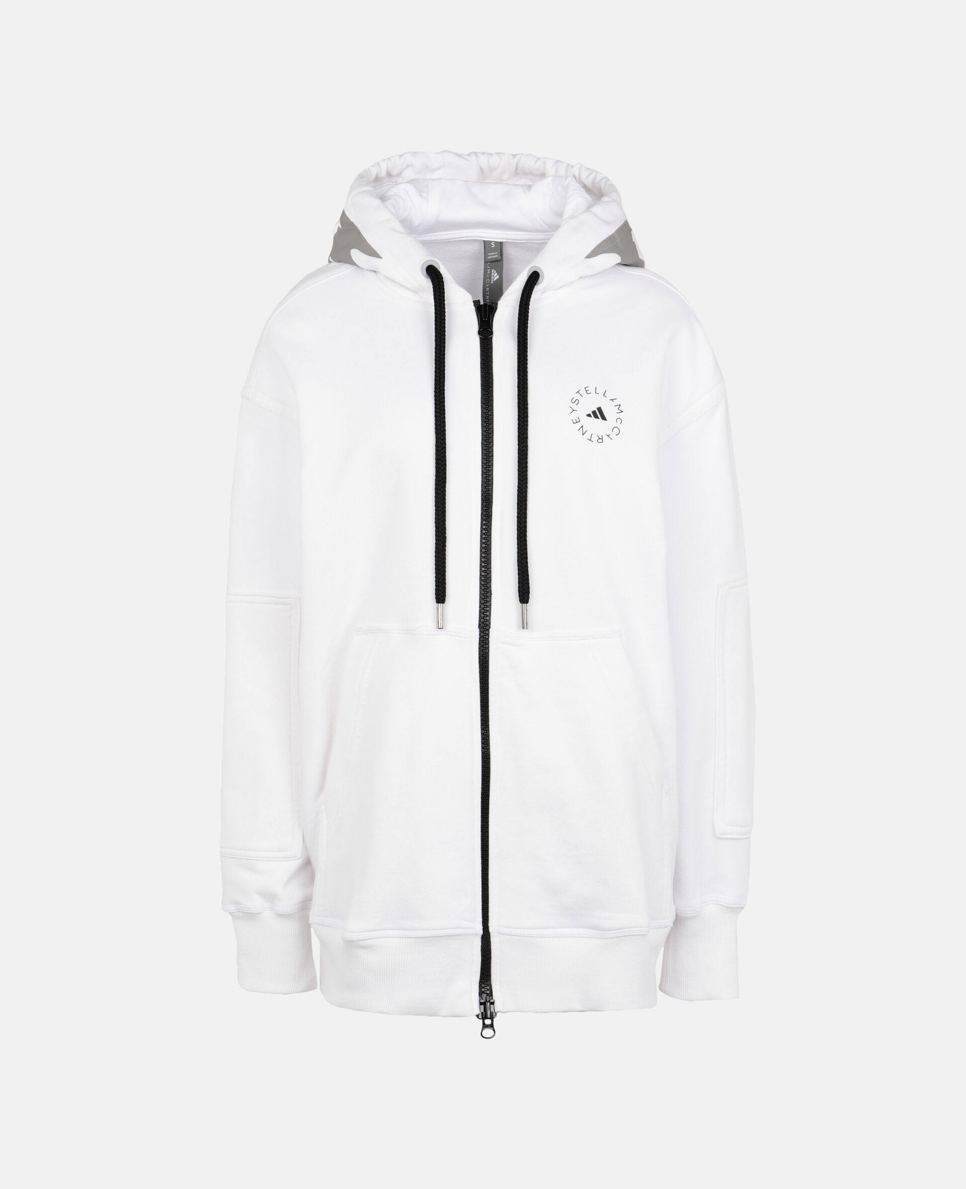 White Full-zipper Hoodie-White-large image number 0