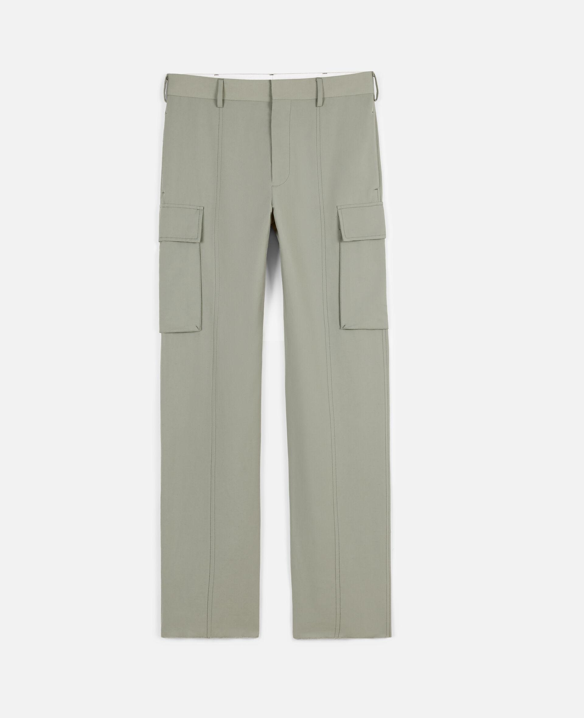 Pantalon kaki-Vert-large image number 0