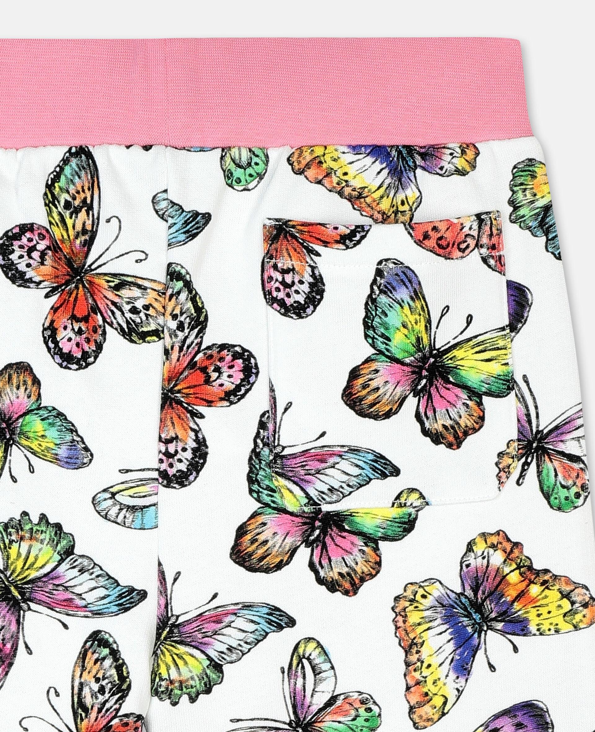 Jogginghose aus Baumwollfleece mit Schmetterlingen -Bunt-large image number 2