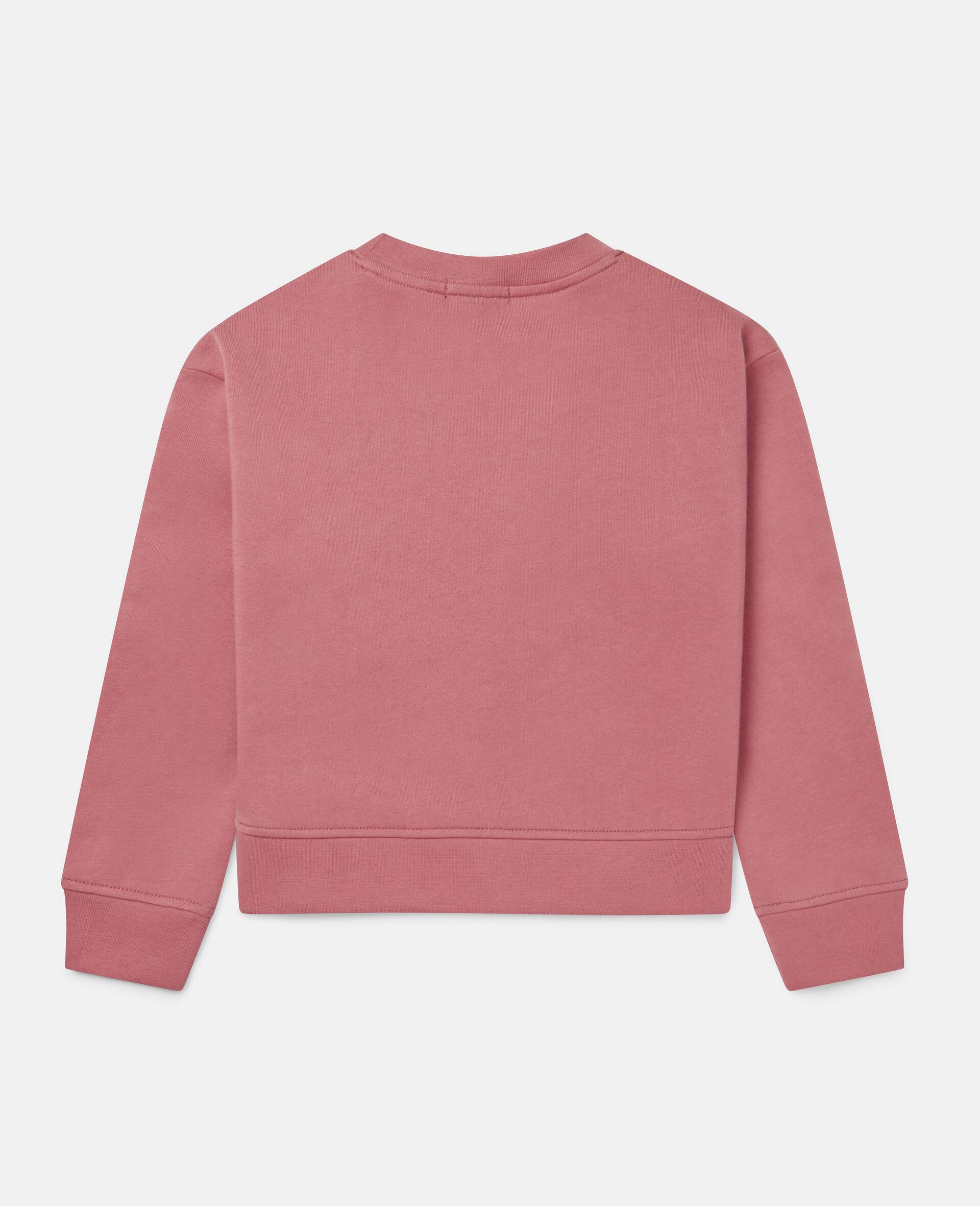 Oversized Fleece Sweatshirt-Red-large image number 3