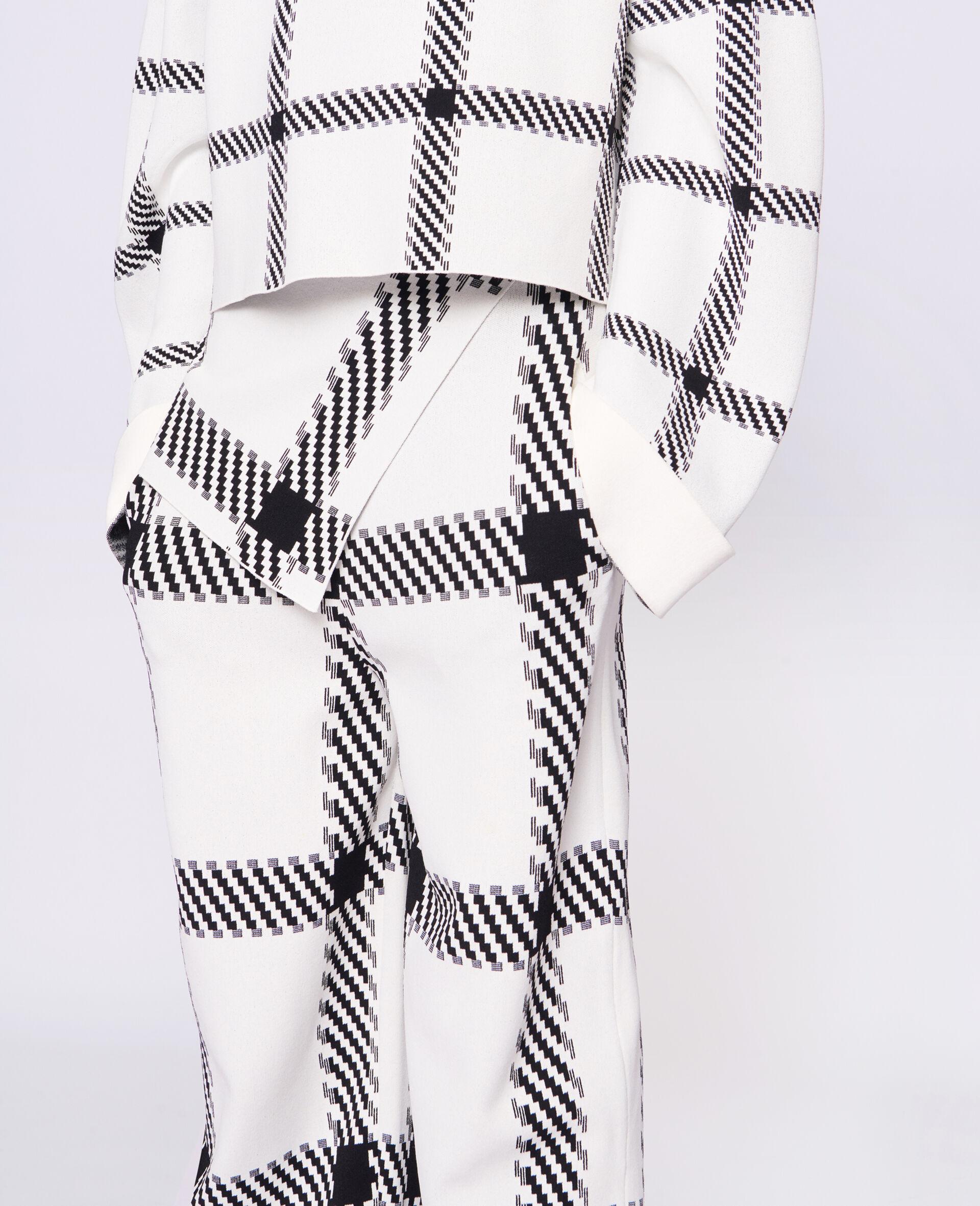 针织格纹裤装-白色-large image number 3