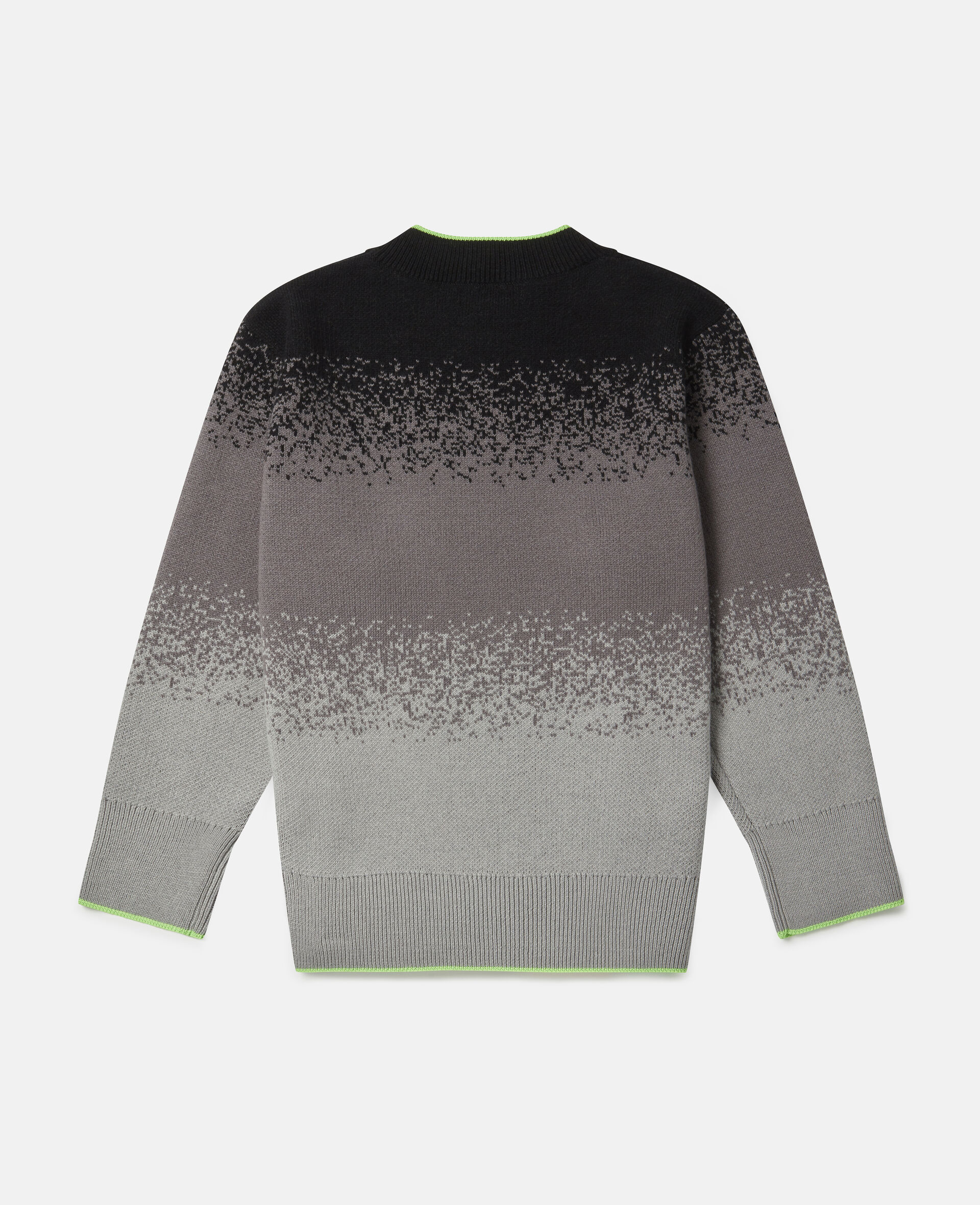 Spray Painted Effect Oversized Knit Jumper-Grey-large image number 3
