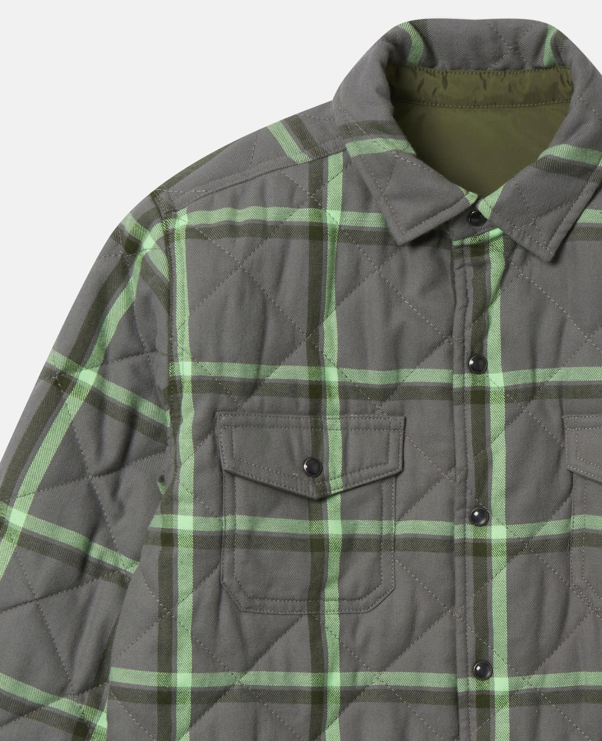Checks Cotton Shirt-Grey-large image number 1