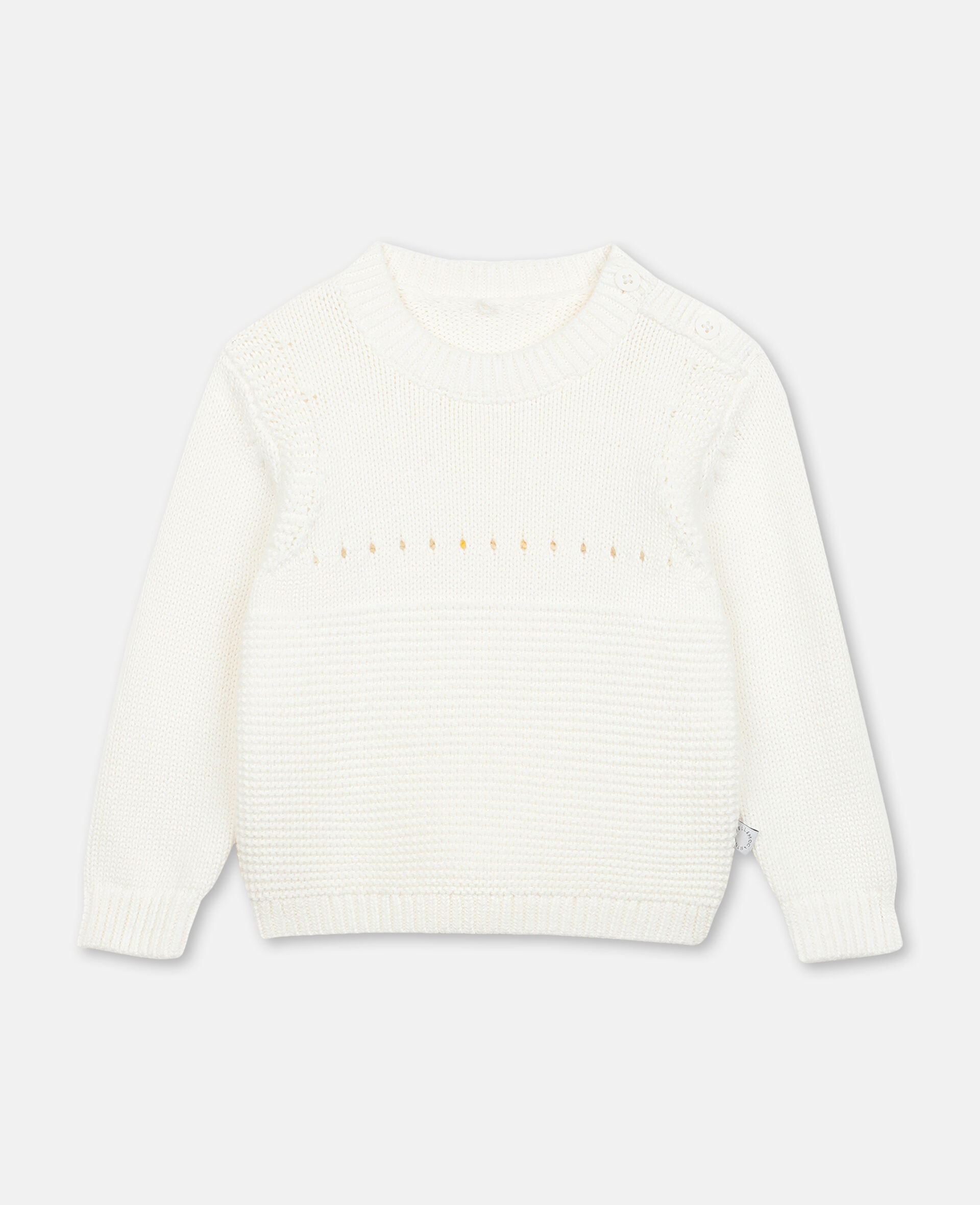 Bunny Knit Sweater -White-large image number 0