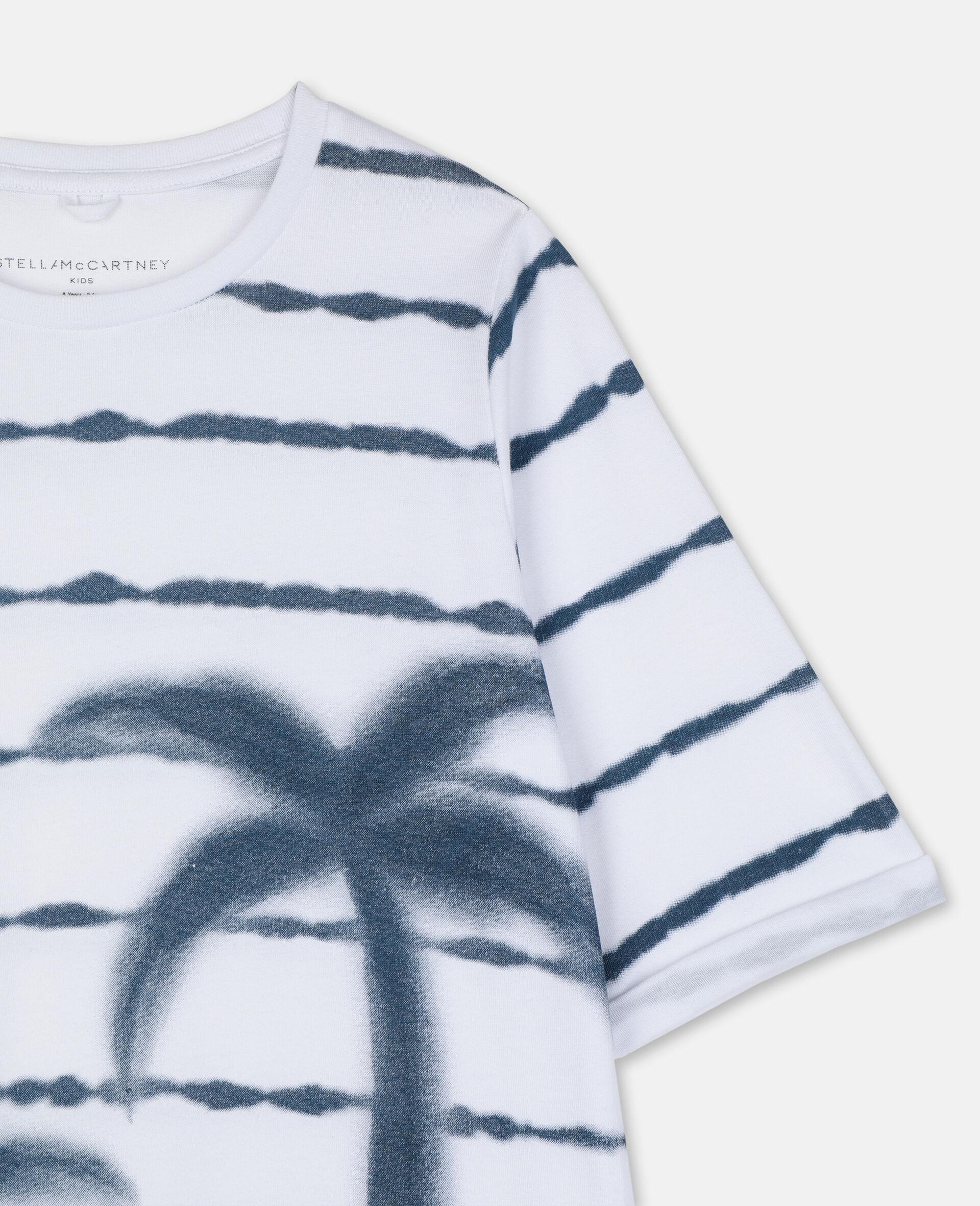 Robe en coton avec imprimé palmiers-Blanc-large image number 1