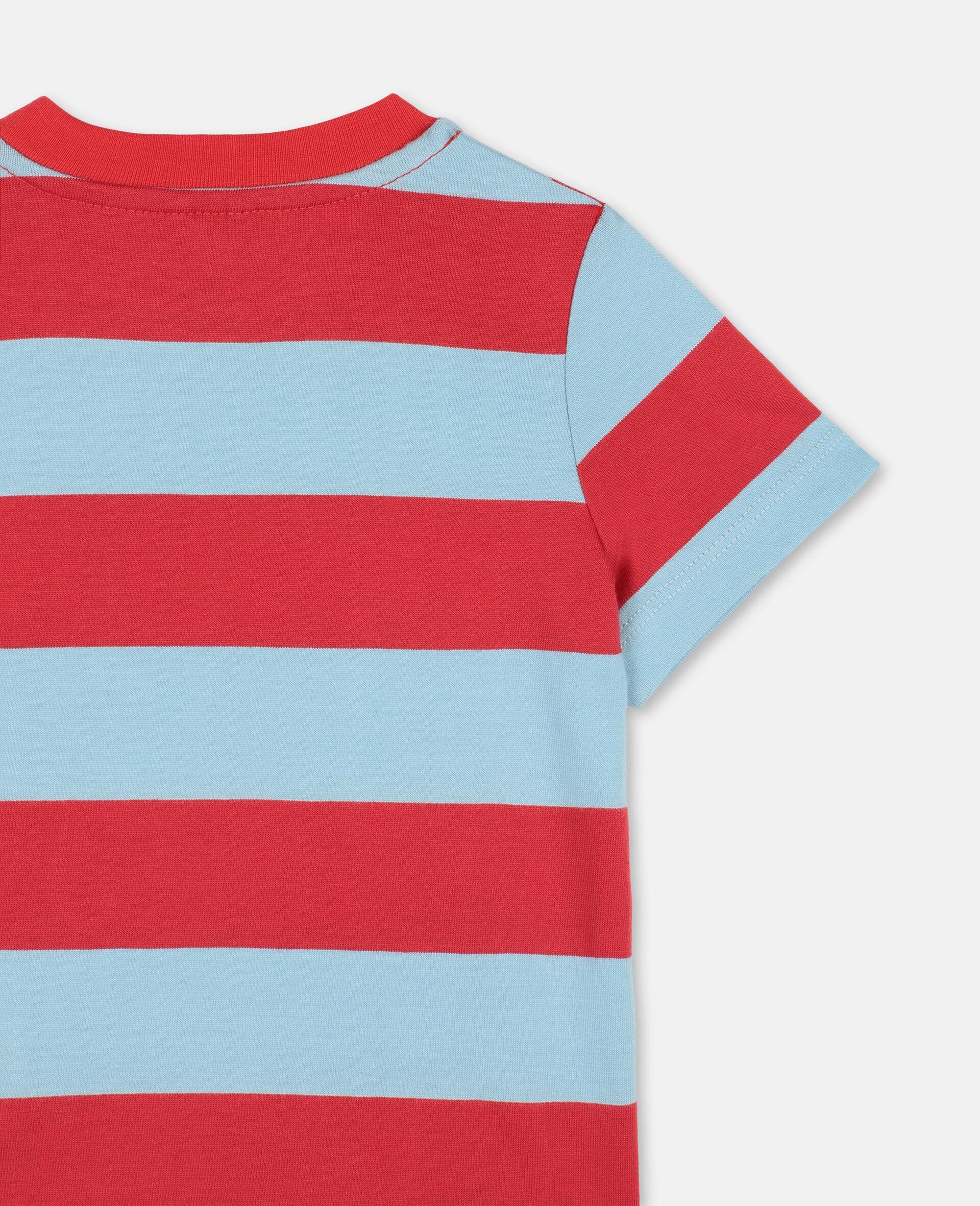 T-shirt en coton avec motif flamants roses -Rouge-large image number 2